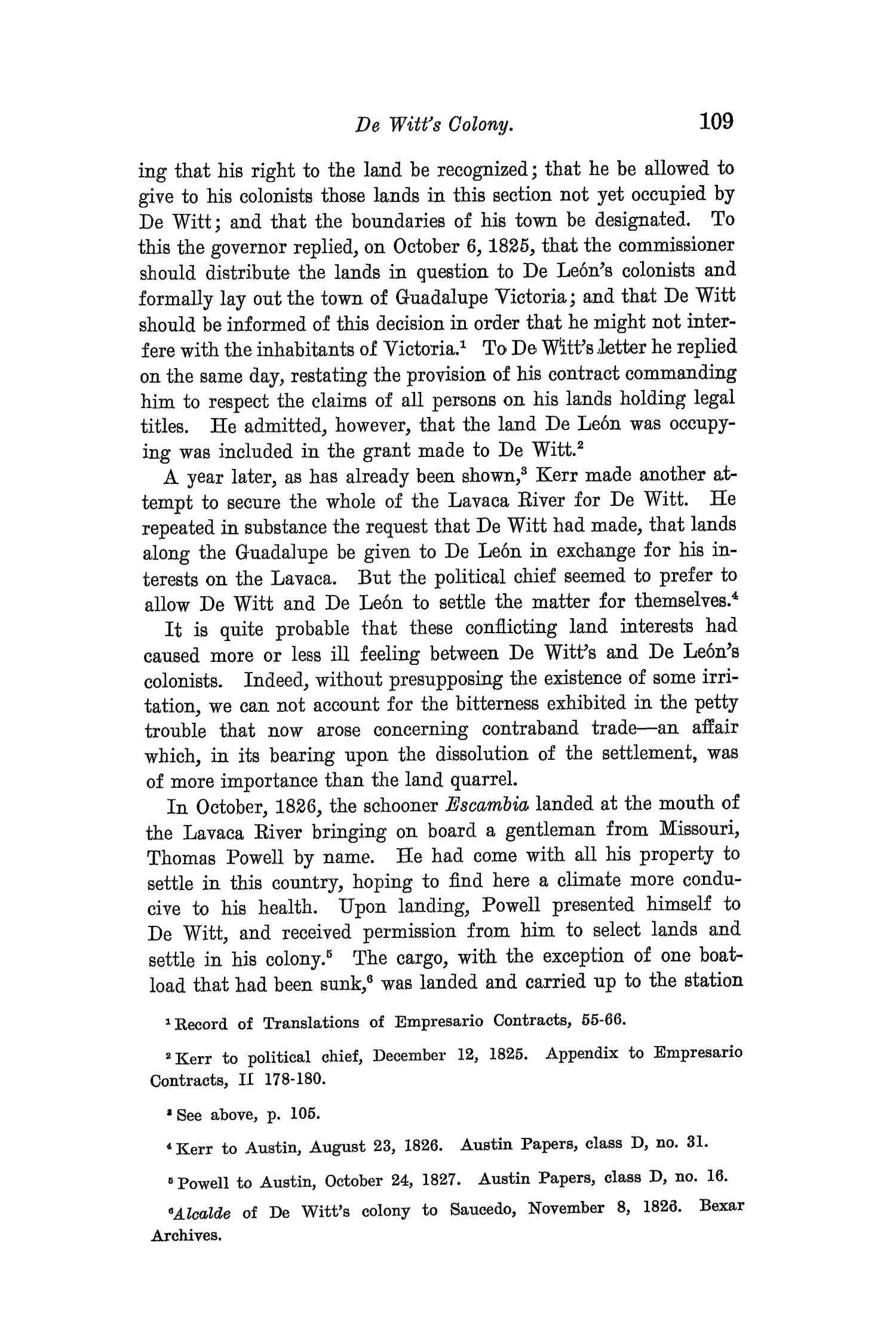The Quarterly of the Texas State Historical Association, Volume 8, July 1904 - April, 1905                                                                                                      109