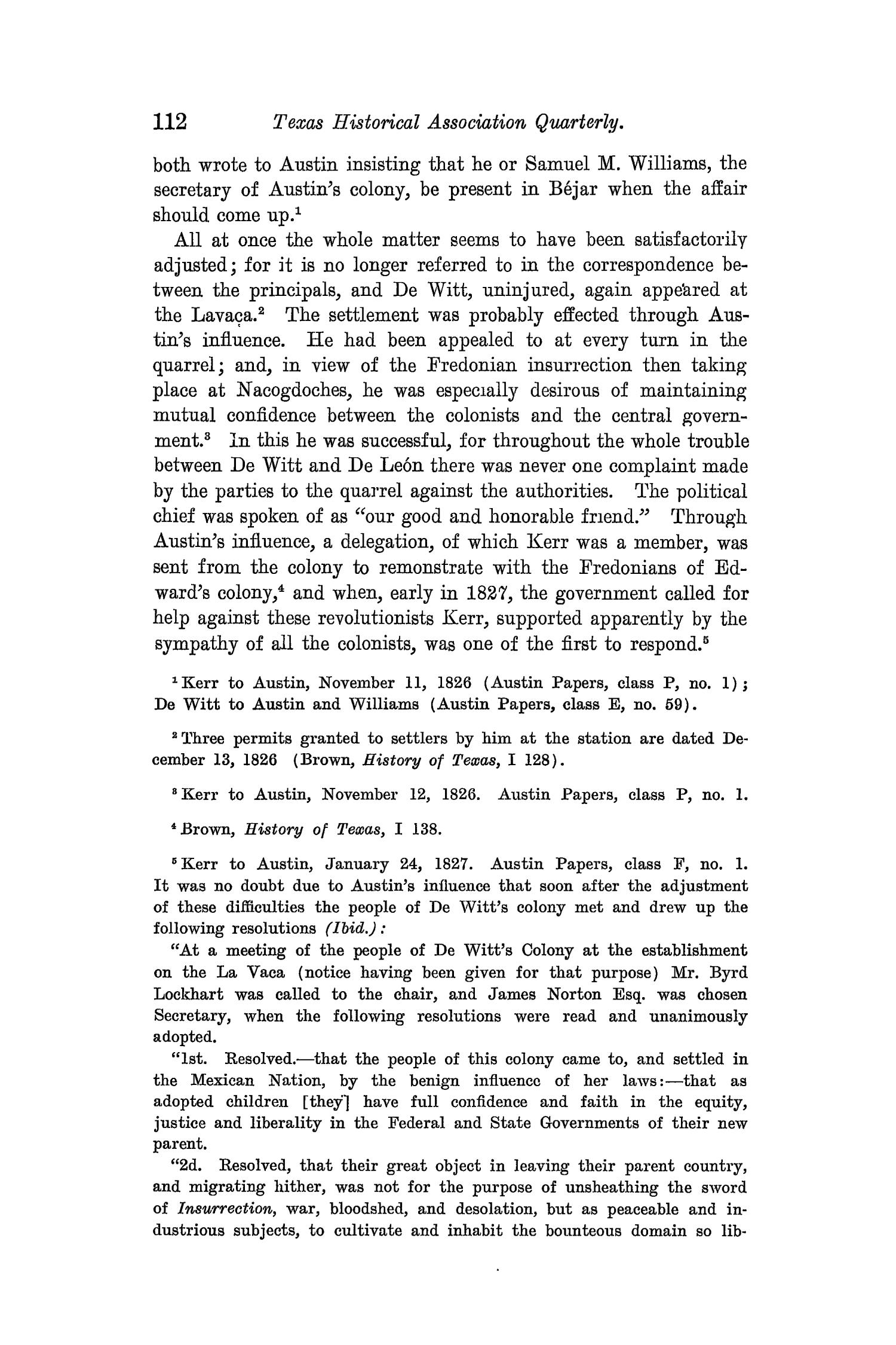 The Quarterly of the Texas State Historical Association, Volume 8, July 1904 - April, 1905                                                                                                      112