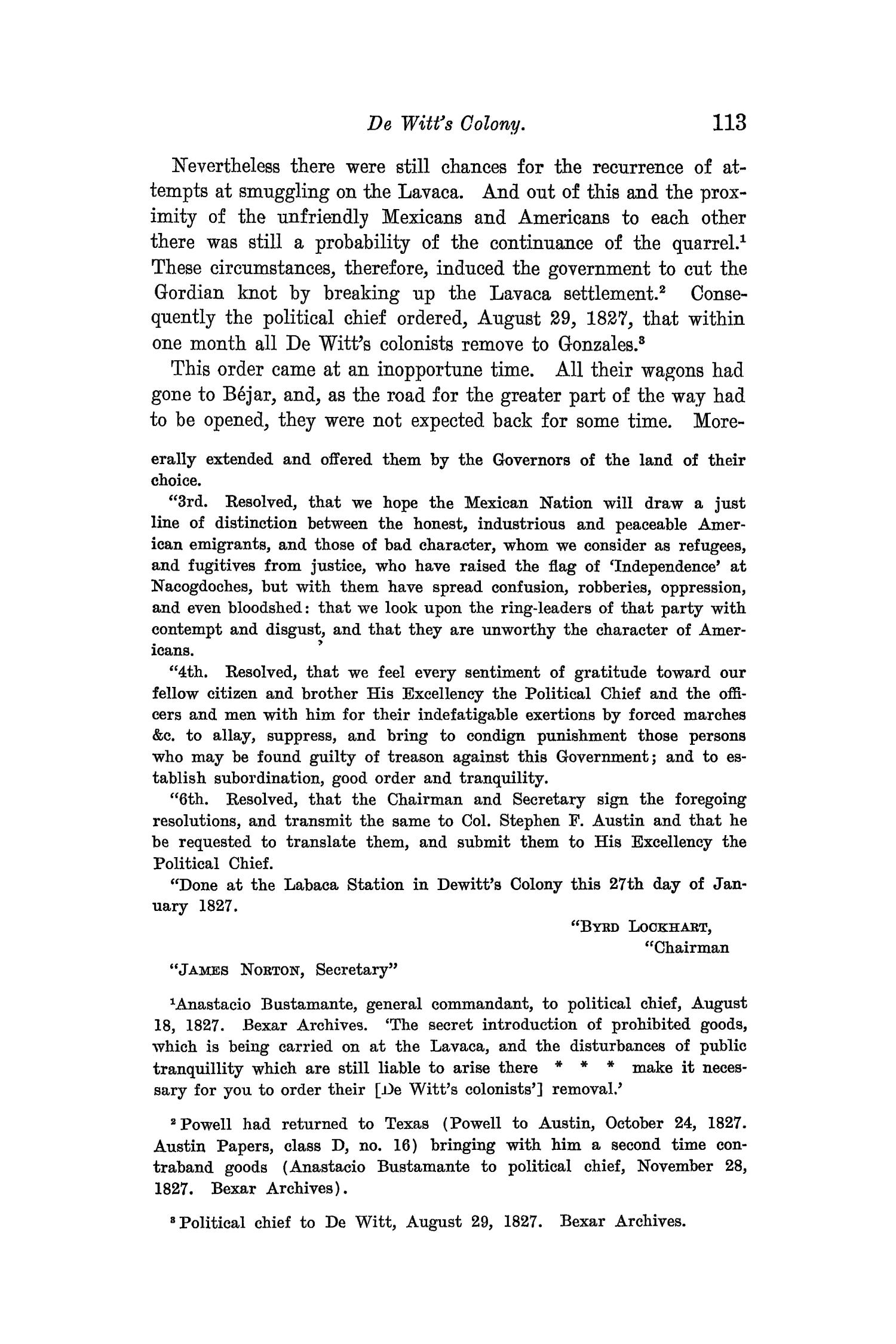 The Quarterly of the Texas State Historical Association, Volume 8, July 1904 - April, 1905                                                                                                      113