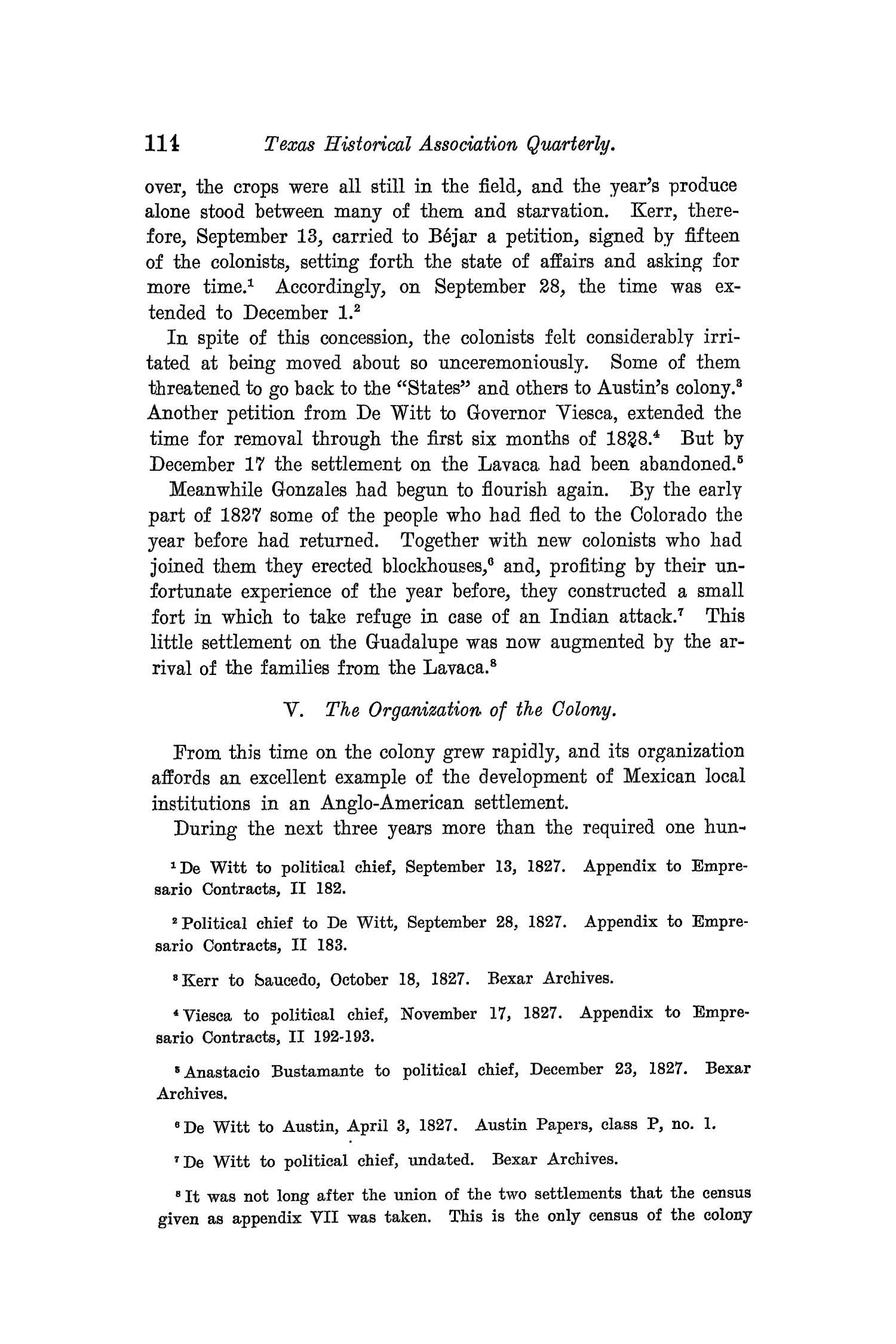 The Quarterly of the Texas State Historical Association, Volume 8, July 1904 - April, 1905                                                                                                      114