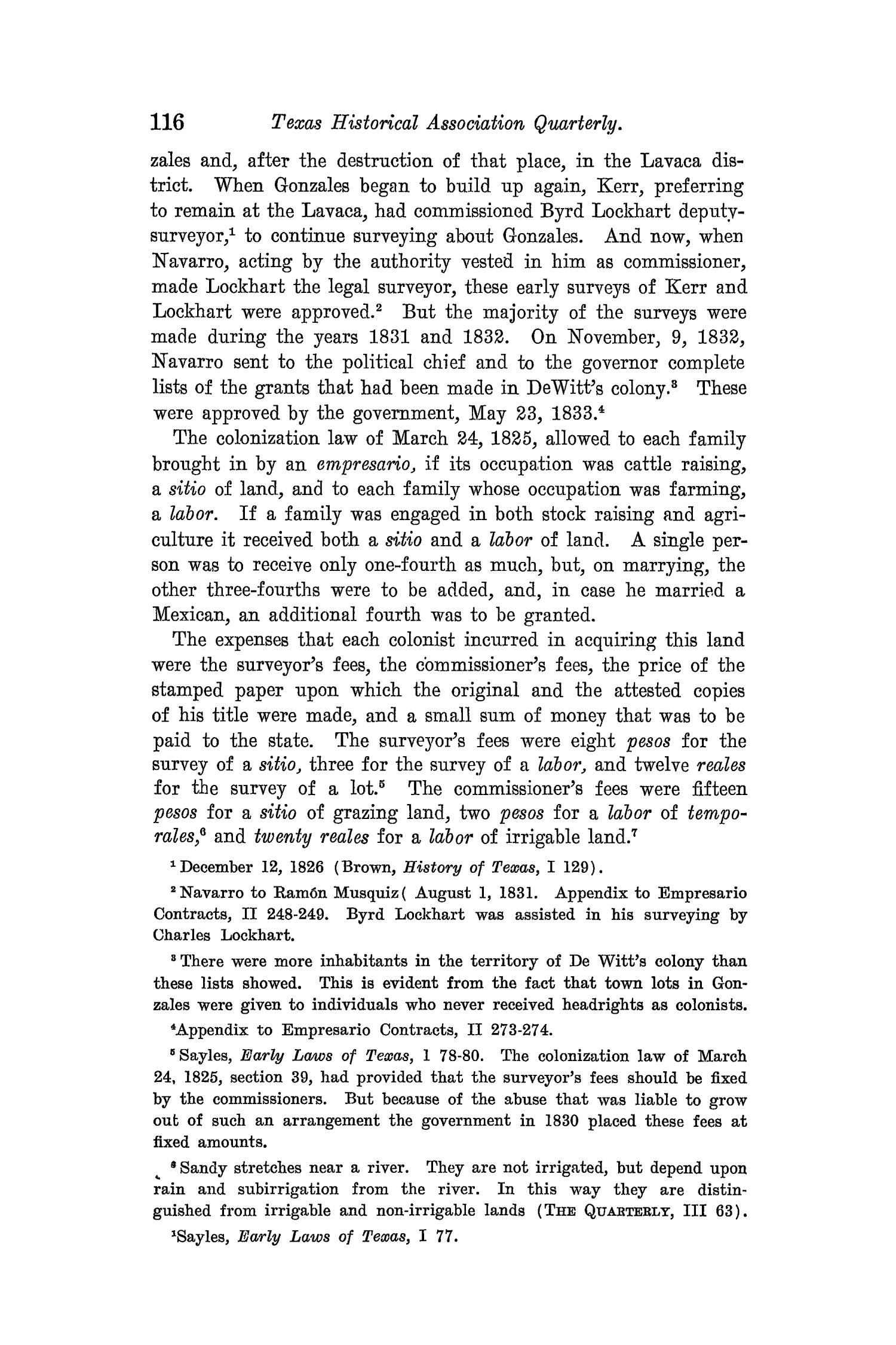 The Quarterly of the Texas State Historical Association, Volume 8, July 1904 - April, 1905                                                                                                      116