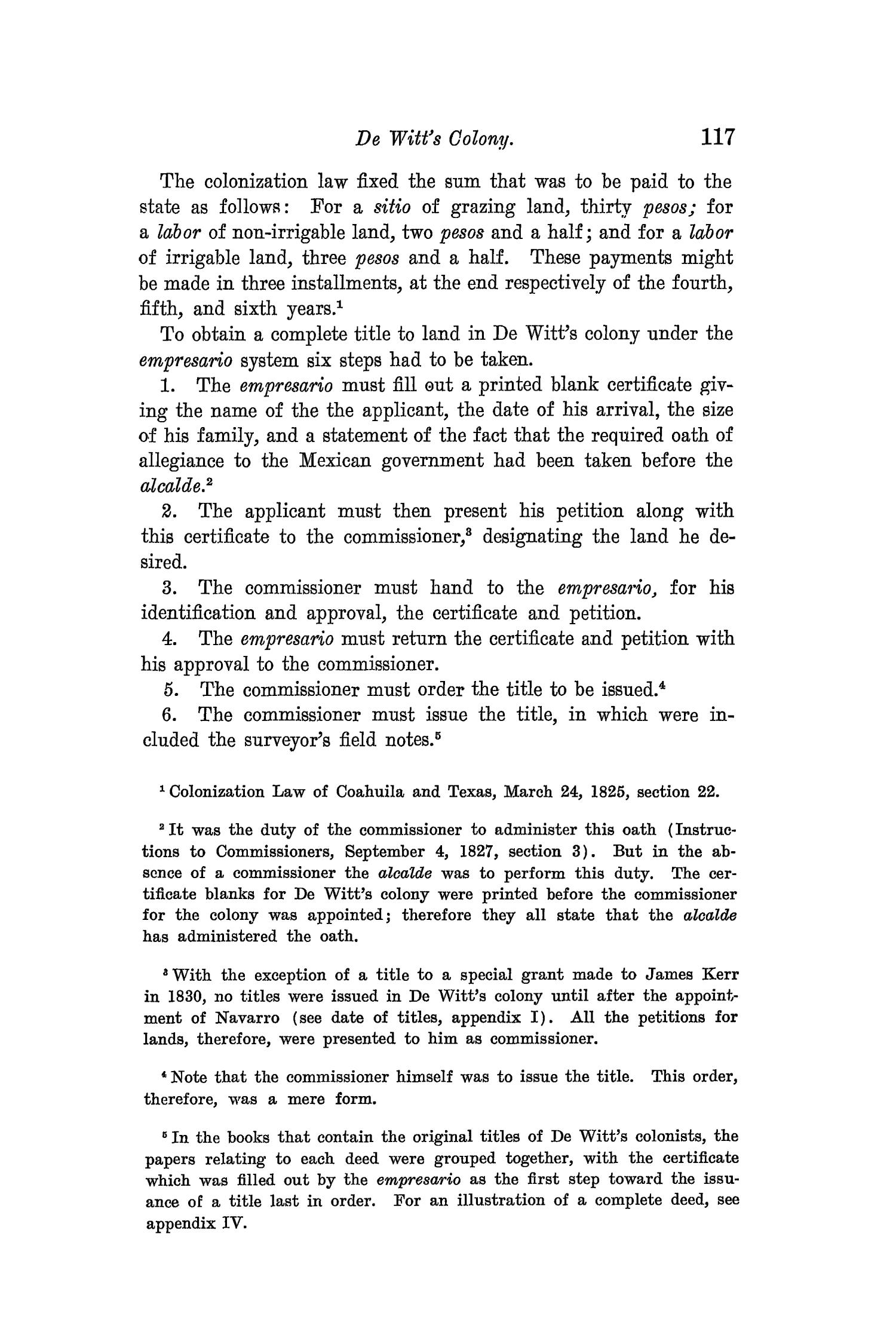 The Quarterly of the Texas State Historical Association, Volume 8, July 1904 - April, 1905                                                                                                      117