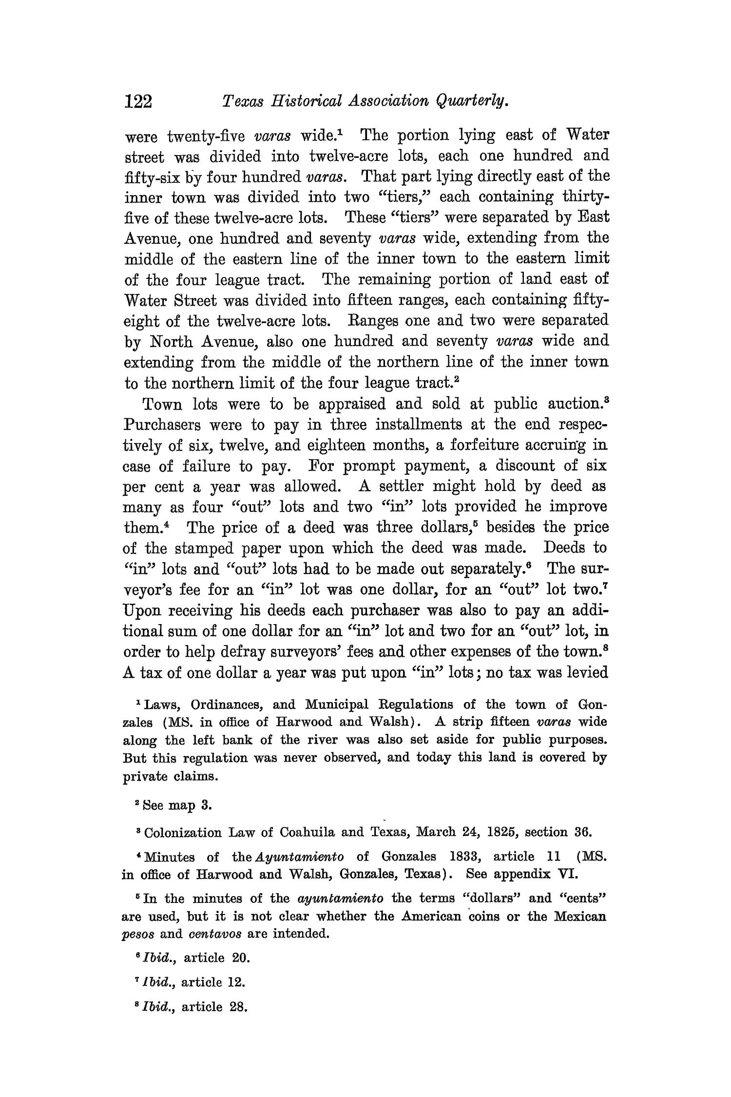 The Quarterly of the Texas State Historical Association, Volume 8, July 1904 - April, 1905                                                                                                      122