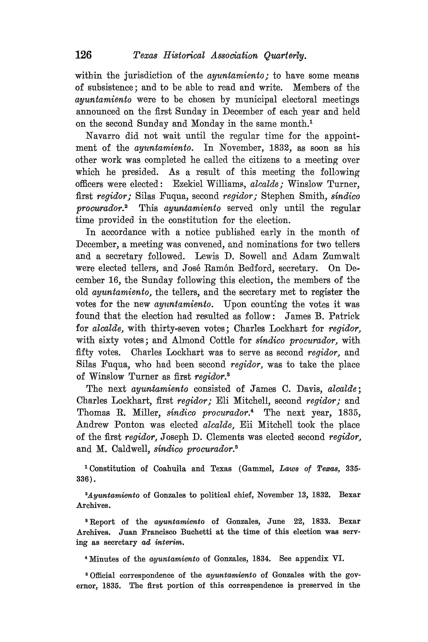 The Quarterly of the Texas State Historical Association, Volume 8, July 1904 - April, 1905                                                                                                      126