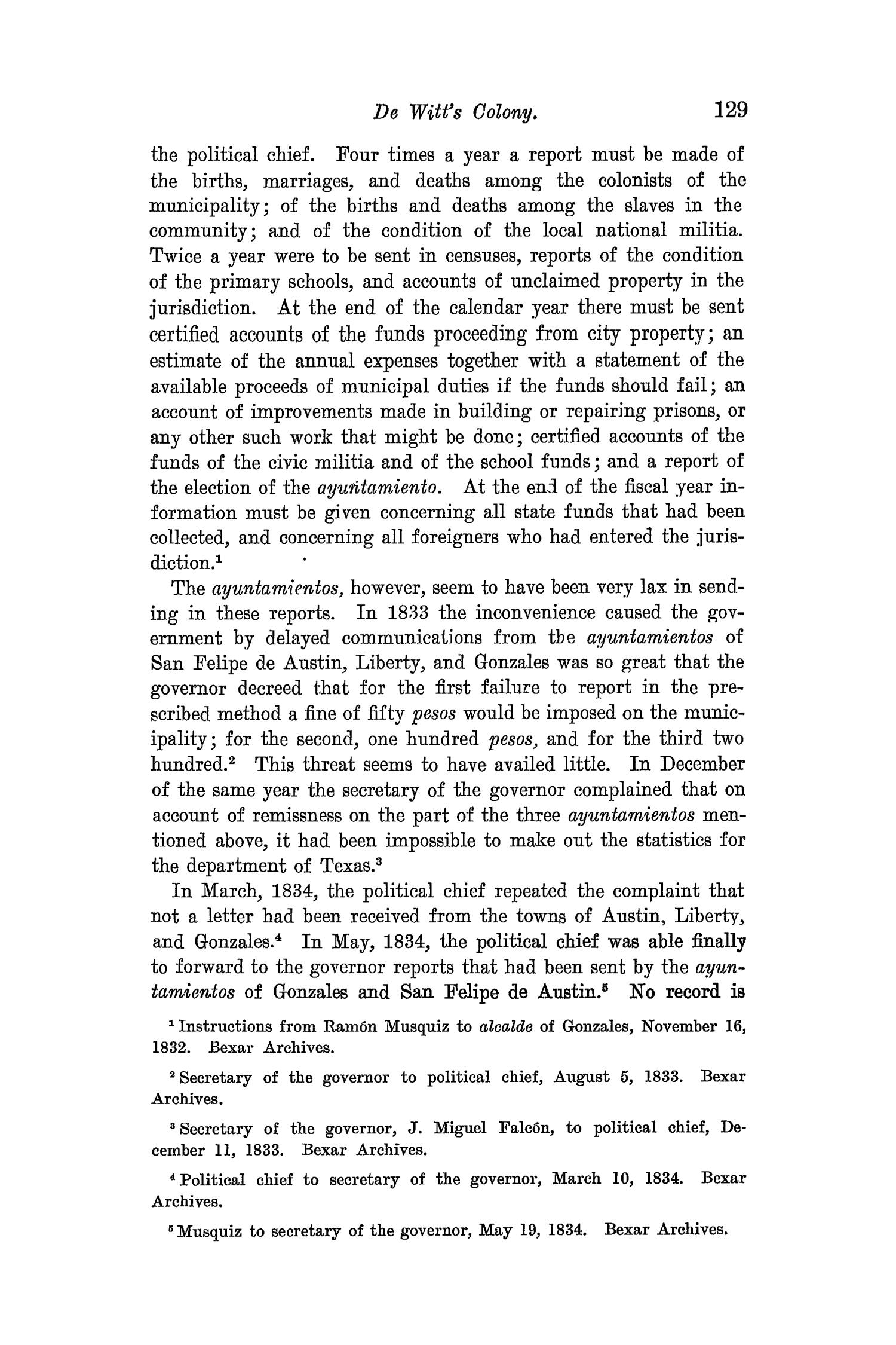 The Quarterly of the Texas State Historical Association, Volume 8, July 1904 - April, 1905                                                                                                      129