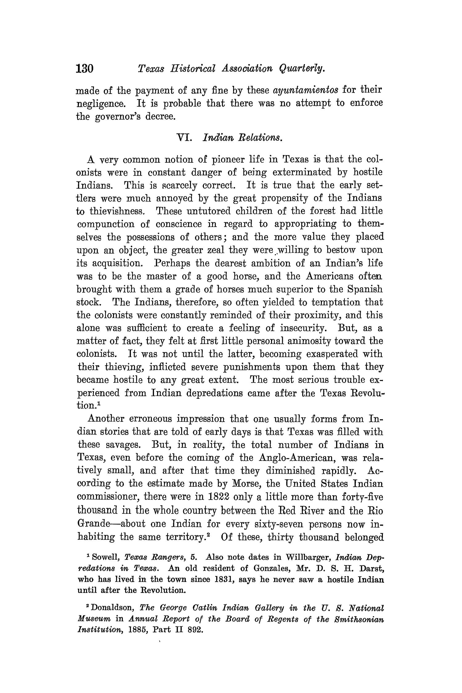 The Quarterly of the Texas State Historical Association, Volume 8, July 1904 - April, 1905                                                                                                      130