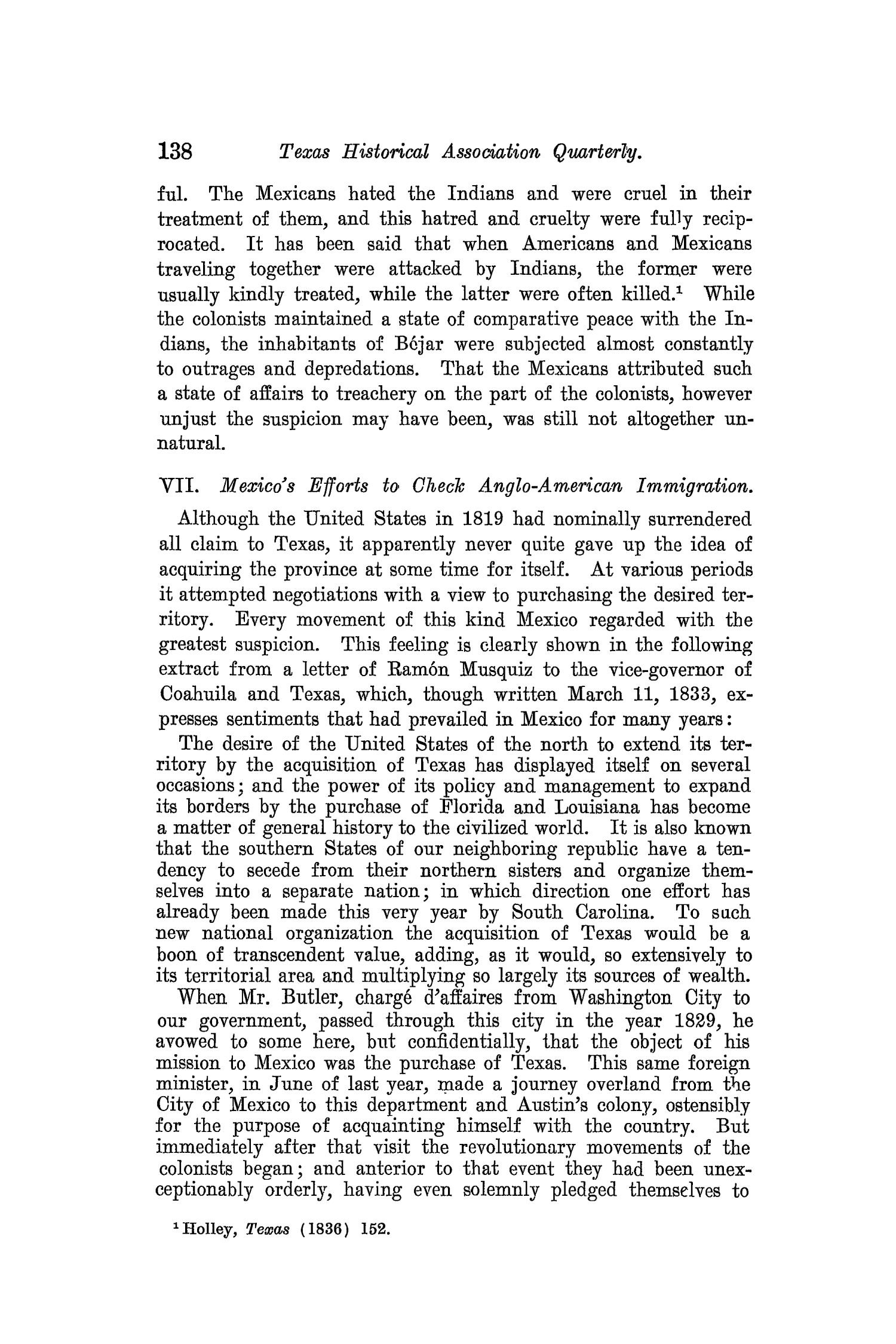 The Quarterly of the Texas State Historical Association, Volume 8, July 1904 - April, 1905                                                                                                      138