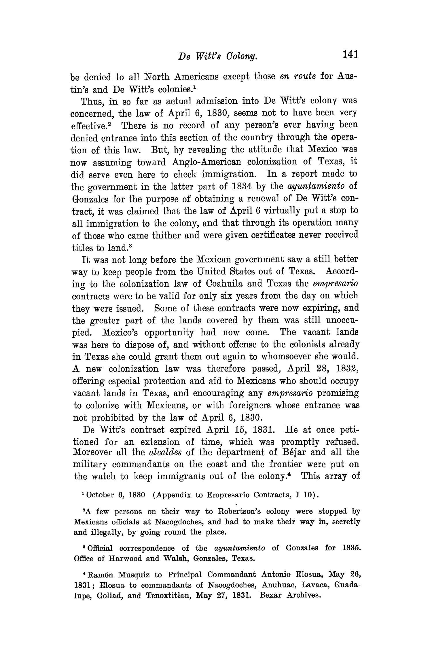 The Quarterly of the Texas State Historical Association, Volume 8, July 1904 - April, 1905                                                                                                      141