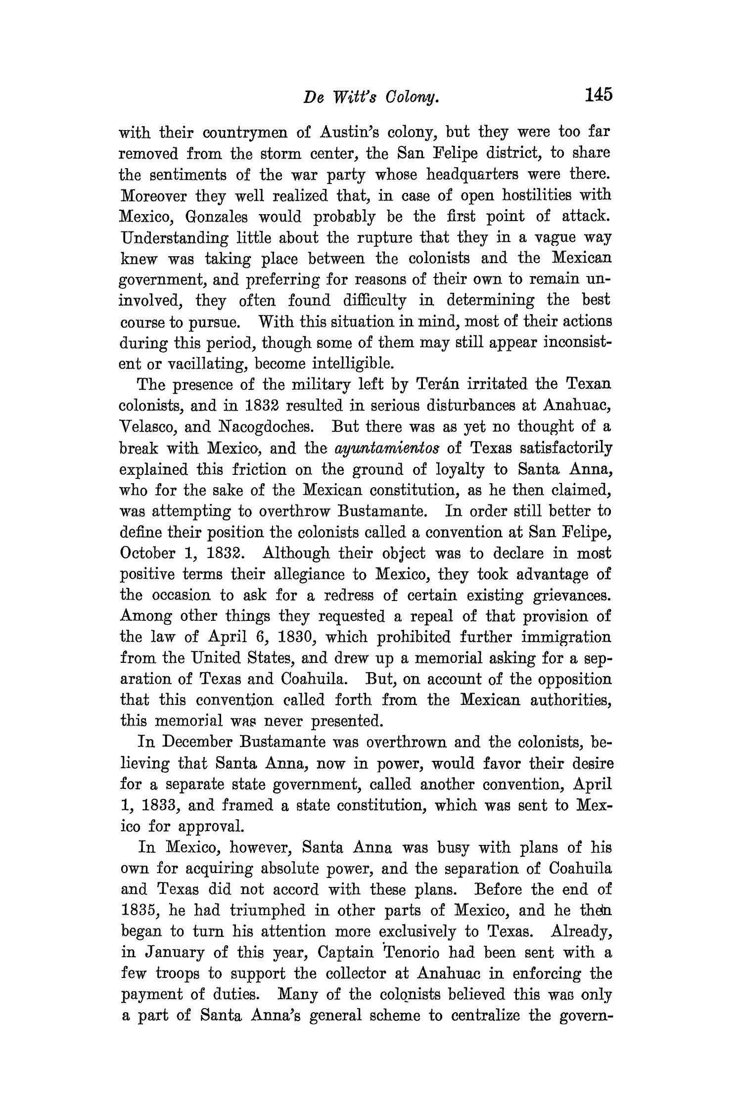 The Quarterly of the Texas State Historical Association, Volume 8, July 1904 - April, 1905                                                                                                      145