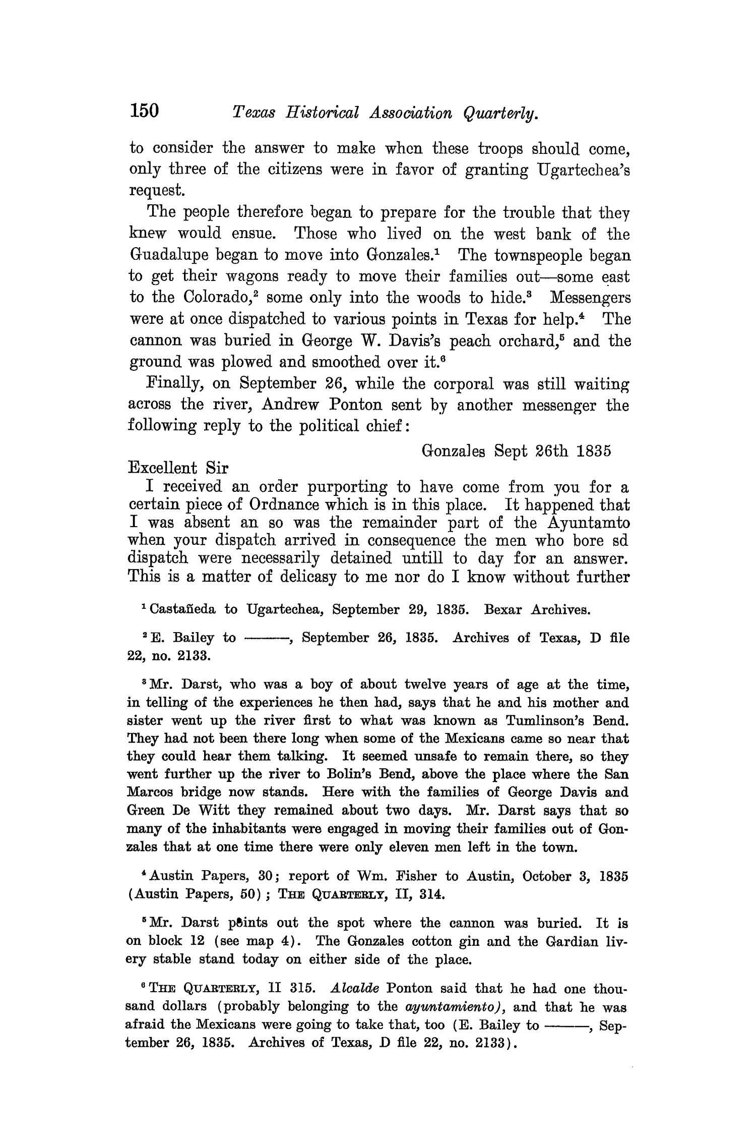 The Quarterly of the Texas State Historical Association, Volume 8, July 1904 - April, 1905                                                                                                      150