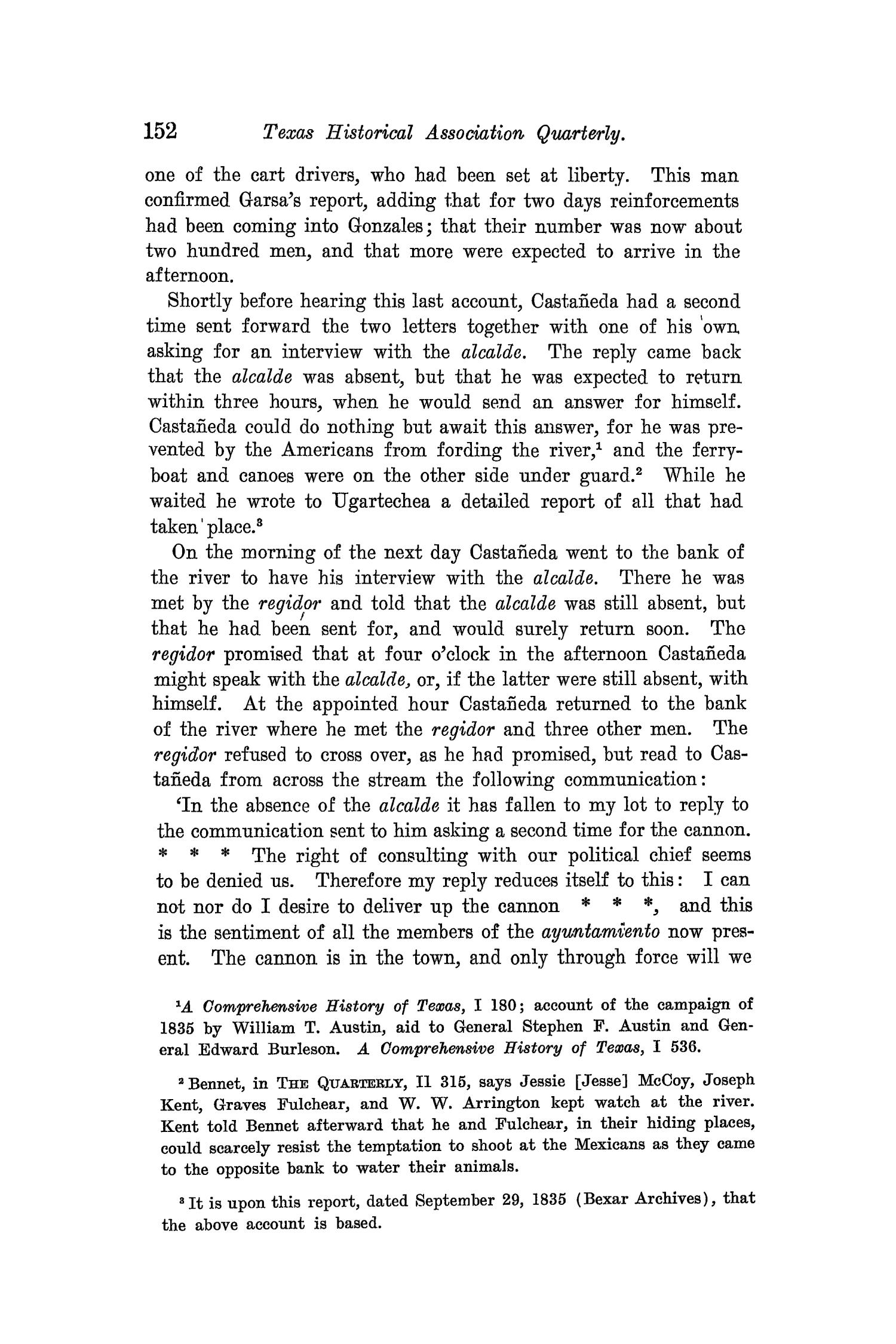The Quarterly of the Texas State Historical Association, Volume 8, July 1904 - April, 1905                                                                                                      152