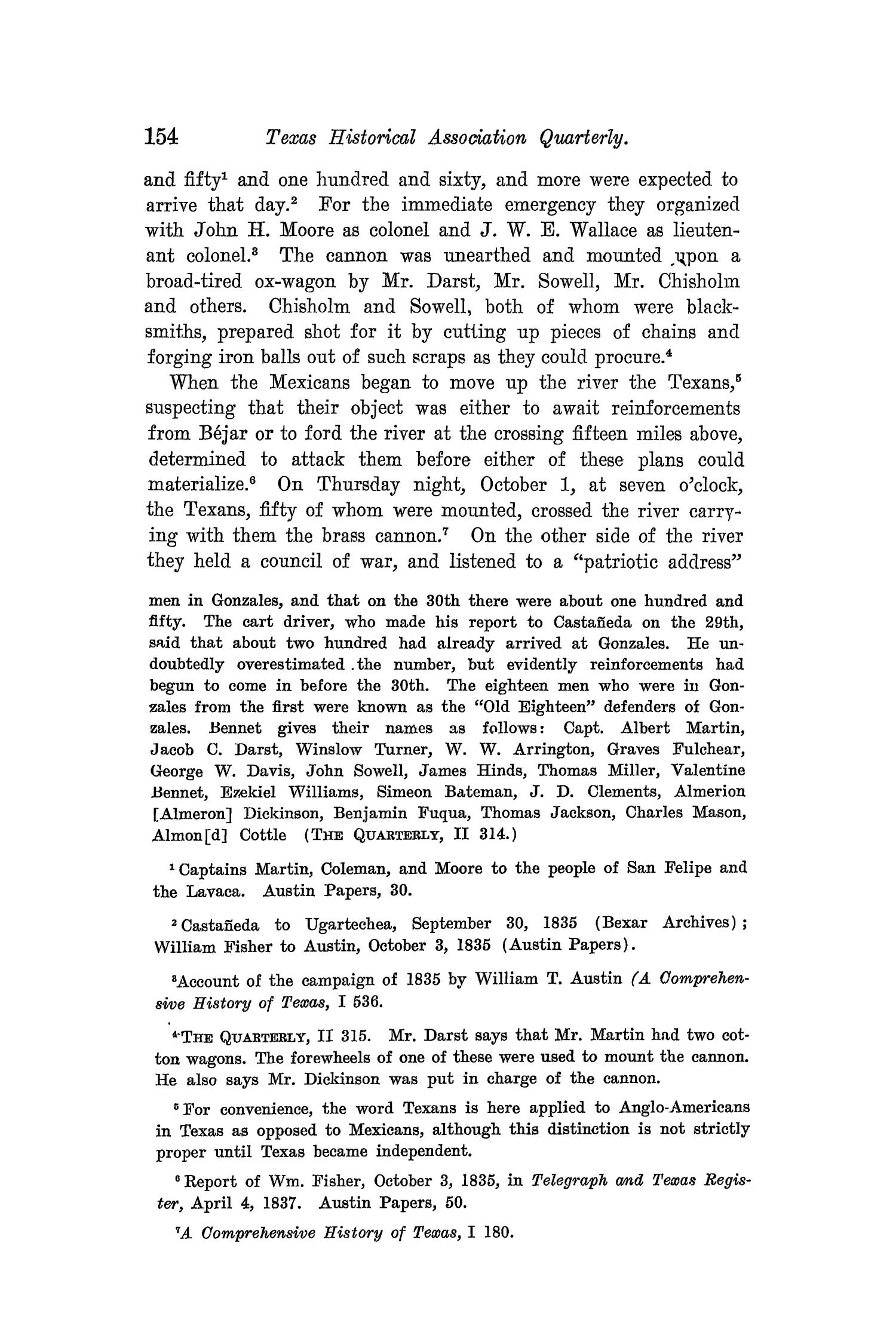The Quarterly of the Texas State Historical Association, Volume 8, July 1904 - April, 1905                                                                                                      154