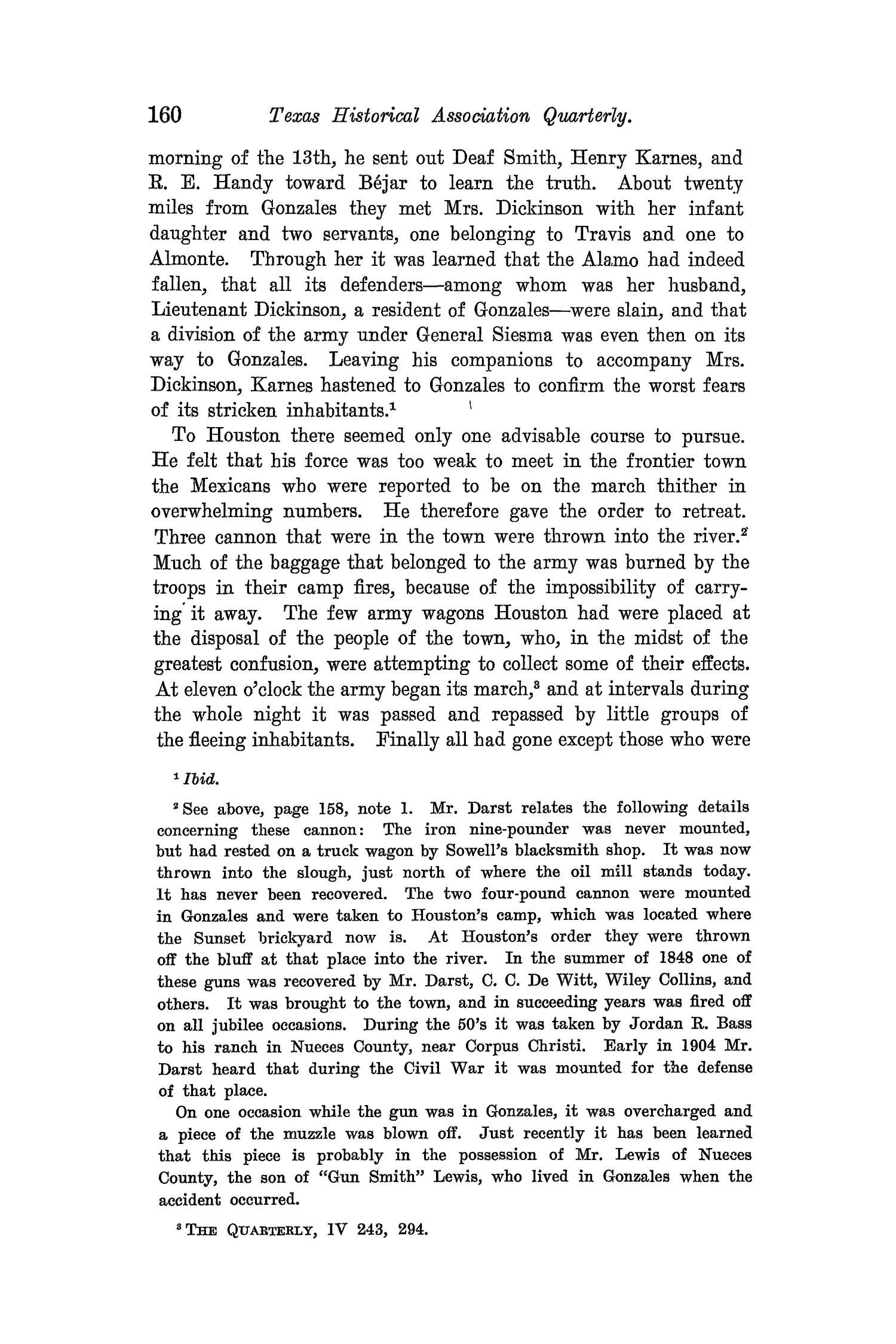 The Quarterly of the Texas State Historical Association, Volume 8, July 1904 - April, 1905                                                                                                      160