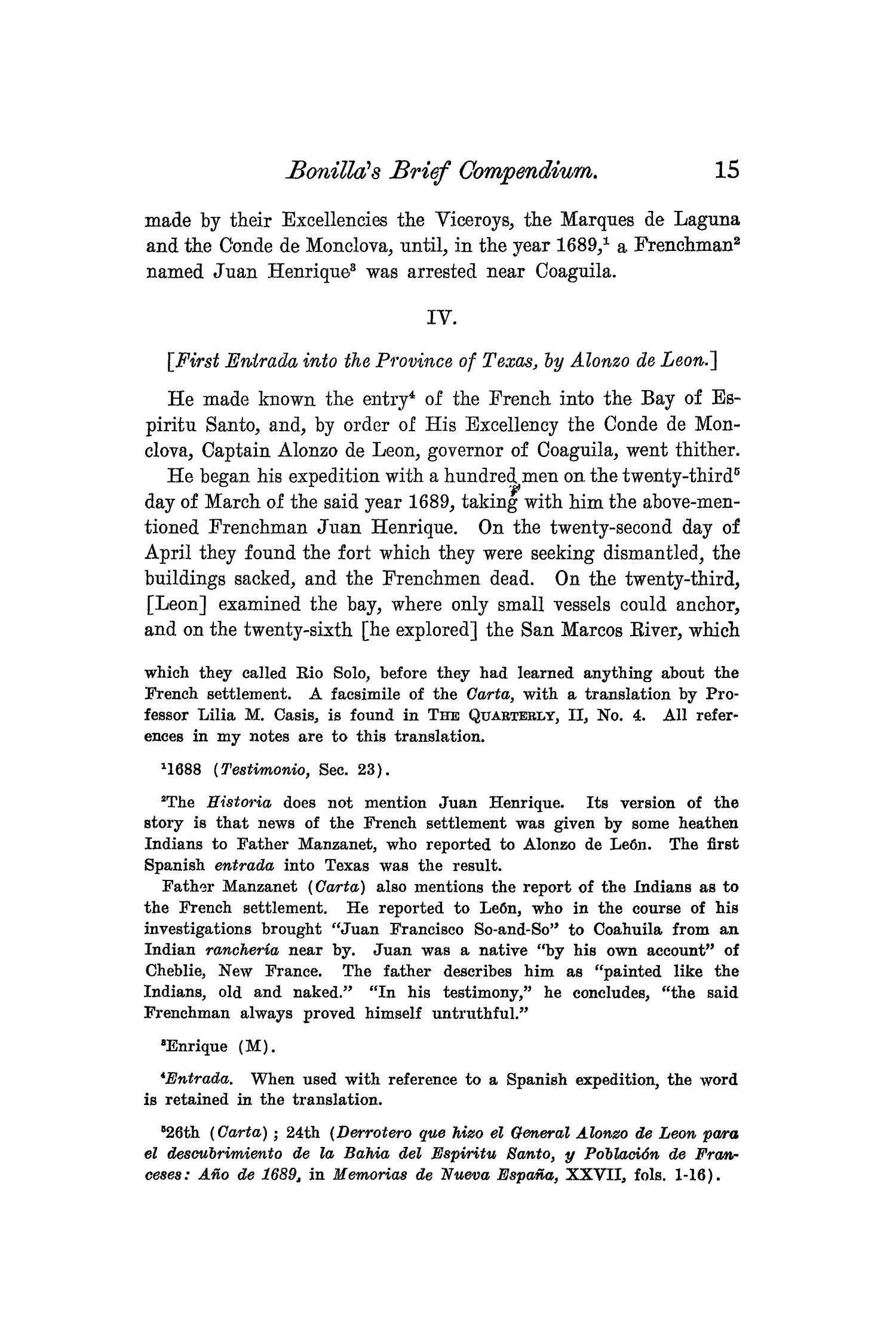 The Quarterly of the Texas State Historical Association, Volume 8, July 1904 - April, 1905                                                                                                      15