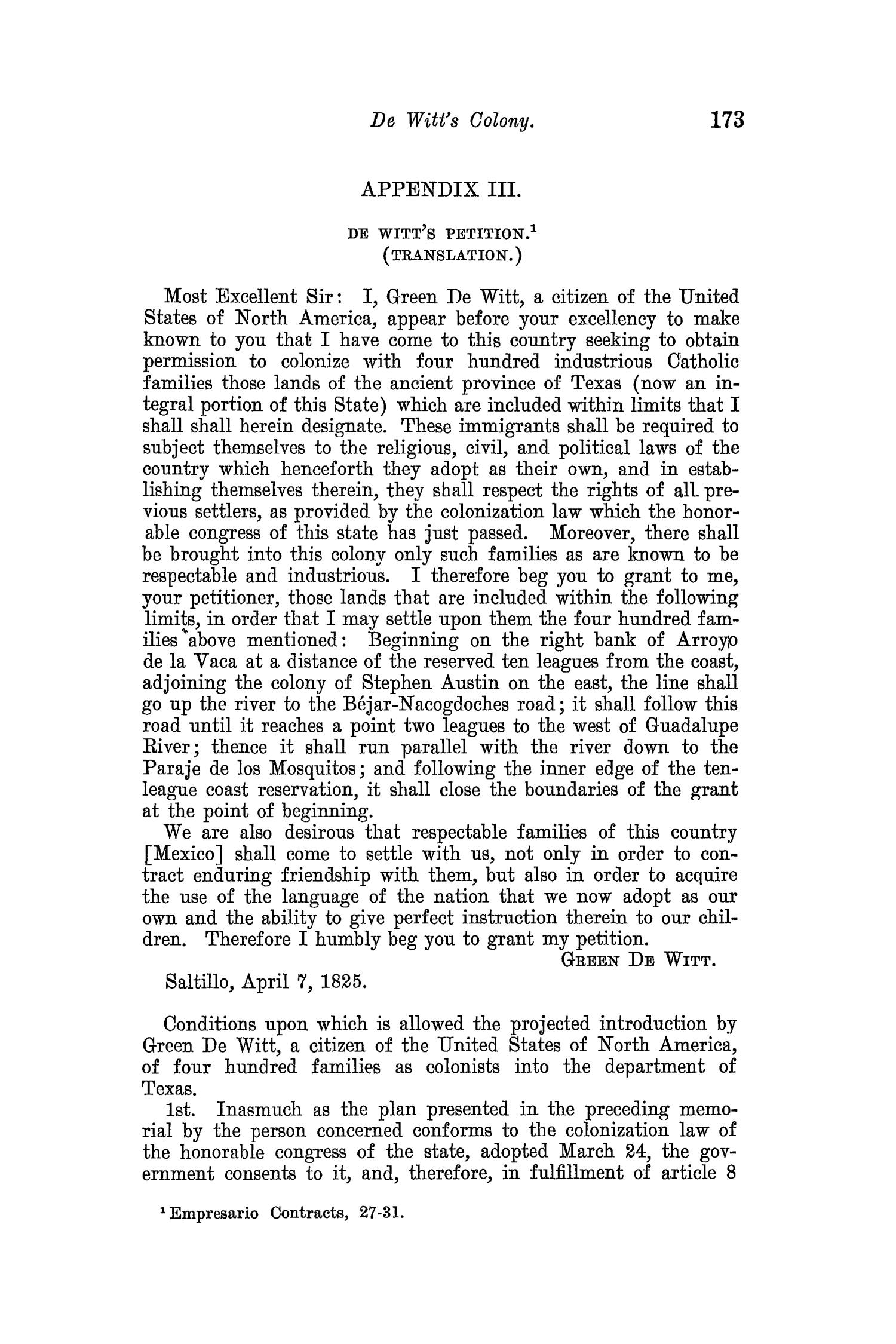The Quarterly of the Texas State Historical Association, Volume 8, July 1904 - April, 1905                                                                                                      173