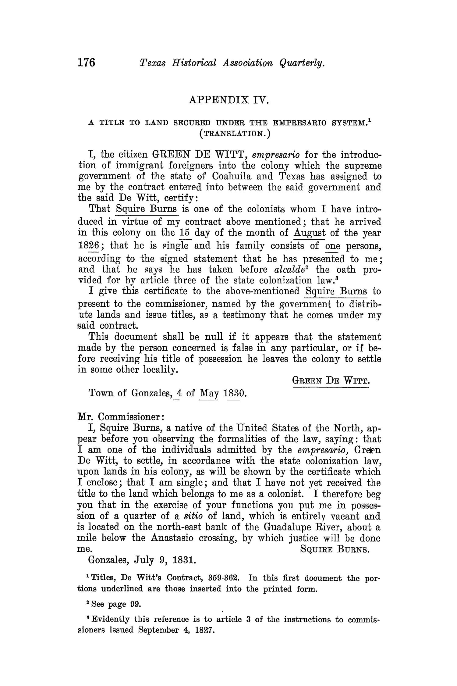 The Quarterly of the Texas State Historical Association, Volume 8, July 1904 - April, 1905                                                                                                      176