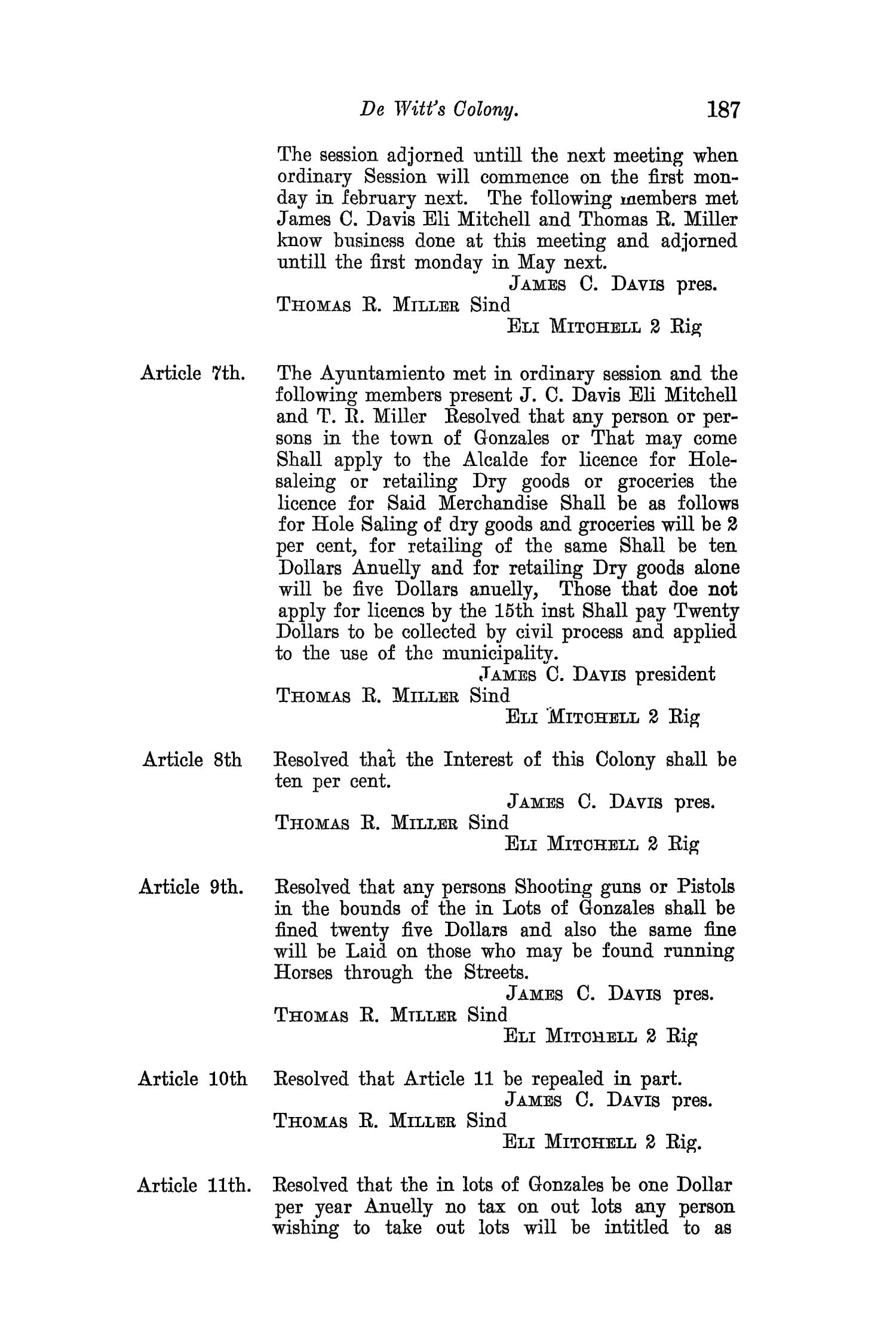 The Quarterly of the Texas State Historical Association, Volume 8, July 1904 - April, 1905                                                                                                      187