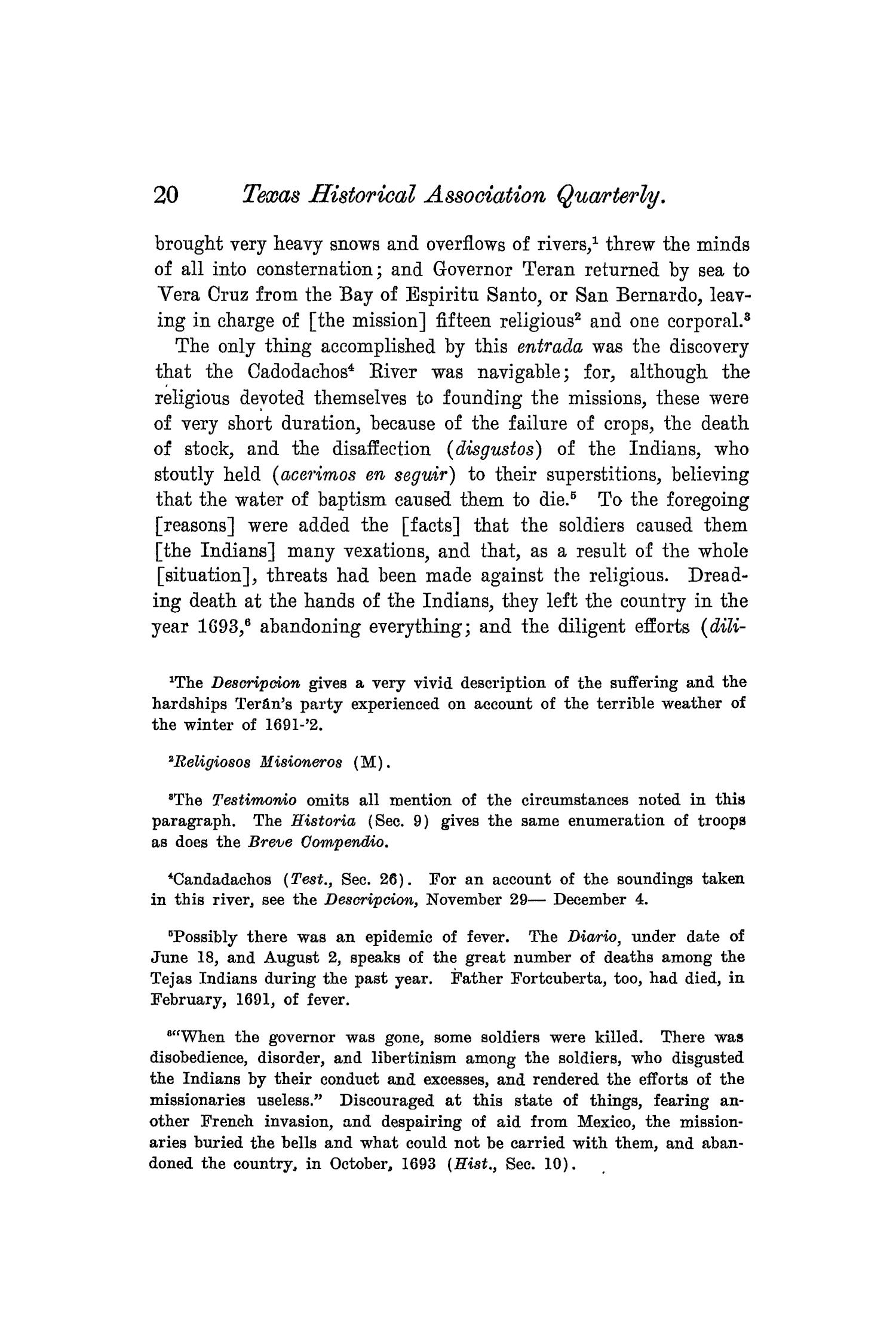 The Quarterly of the Texas State Historical Association, Volume 8, July 1904 - April, 1905                                                                                                      20