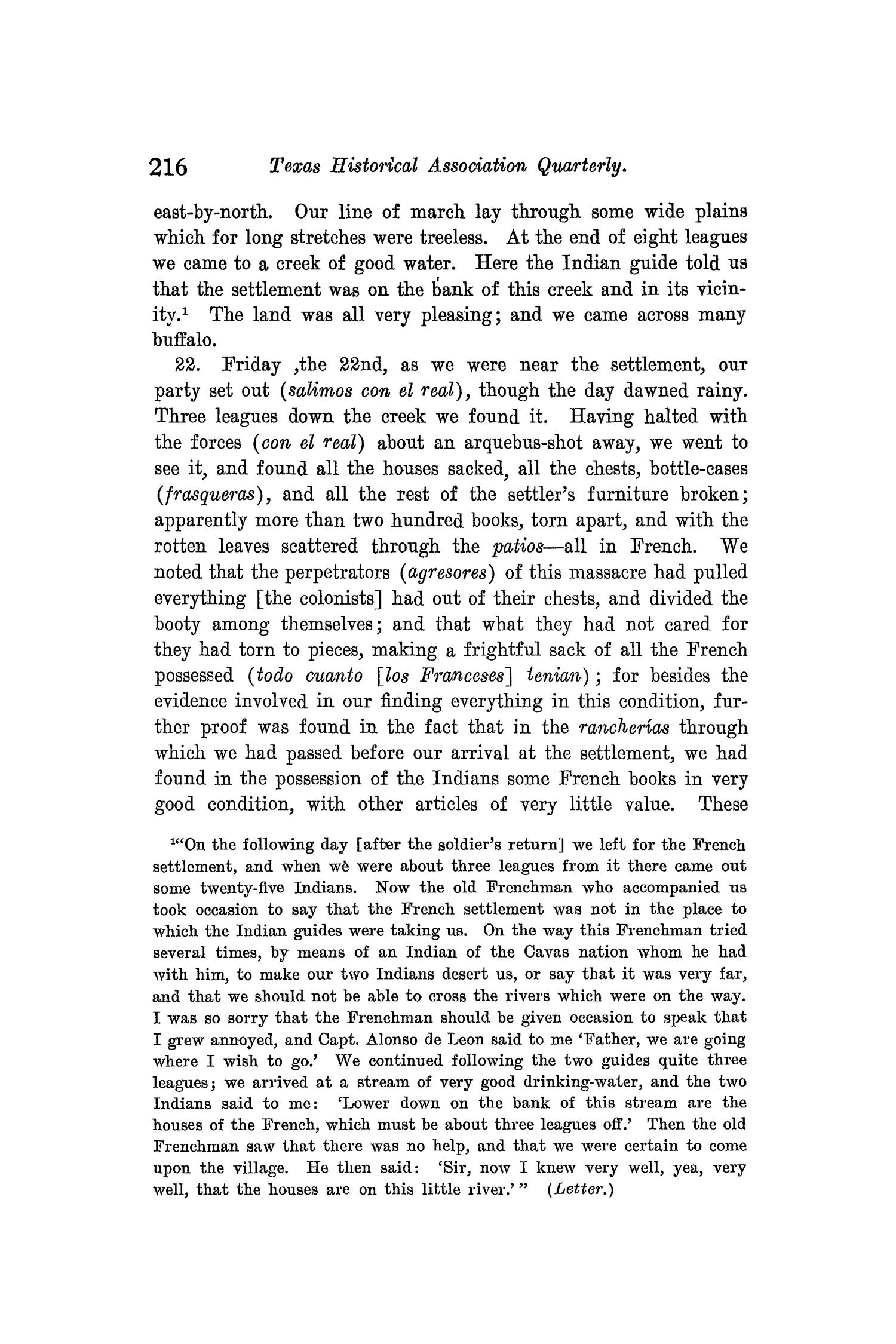 The Quarterly of the Texas State Historical Association, Volume 8, July 1904 - April, 1905                                                                                                      216