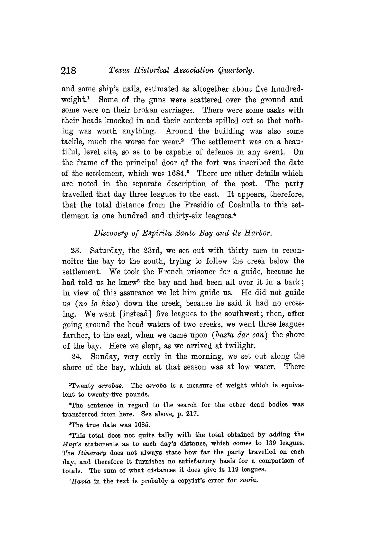 The Quarterly of the Texas State Historical Association, Volume 8, July 1904 - April, 1905                                                                                                      218