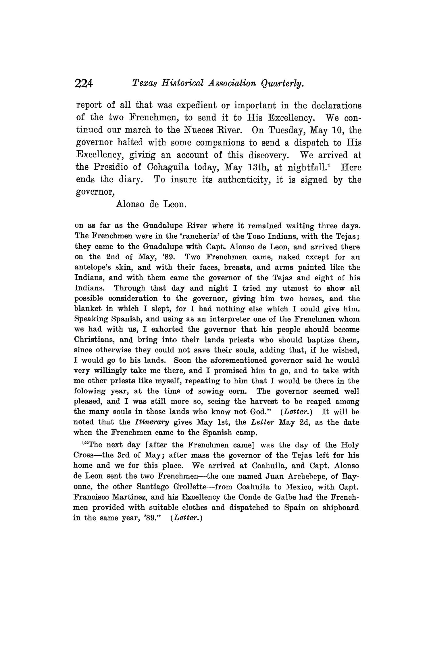 The Quarterly of the Texas State Historical Association, Volume 8, July 1904 - April, 1905                                                                                                      224