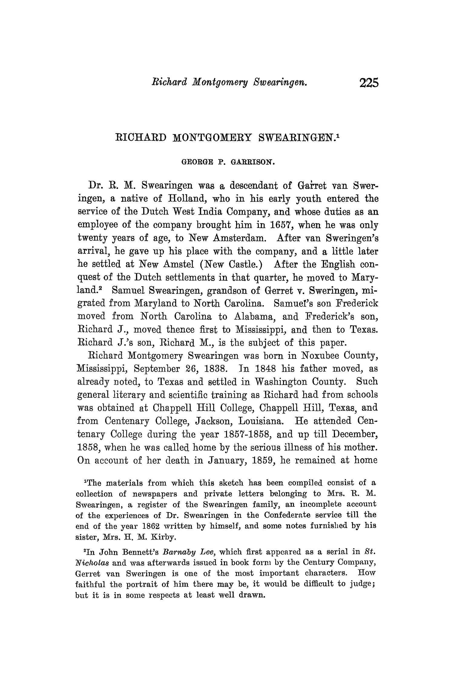 The Quarterly of the Texas State Historical Association, Volume 8, July 1904 - April, 1905                                                                                                      225