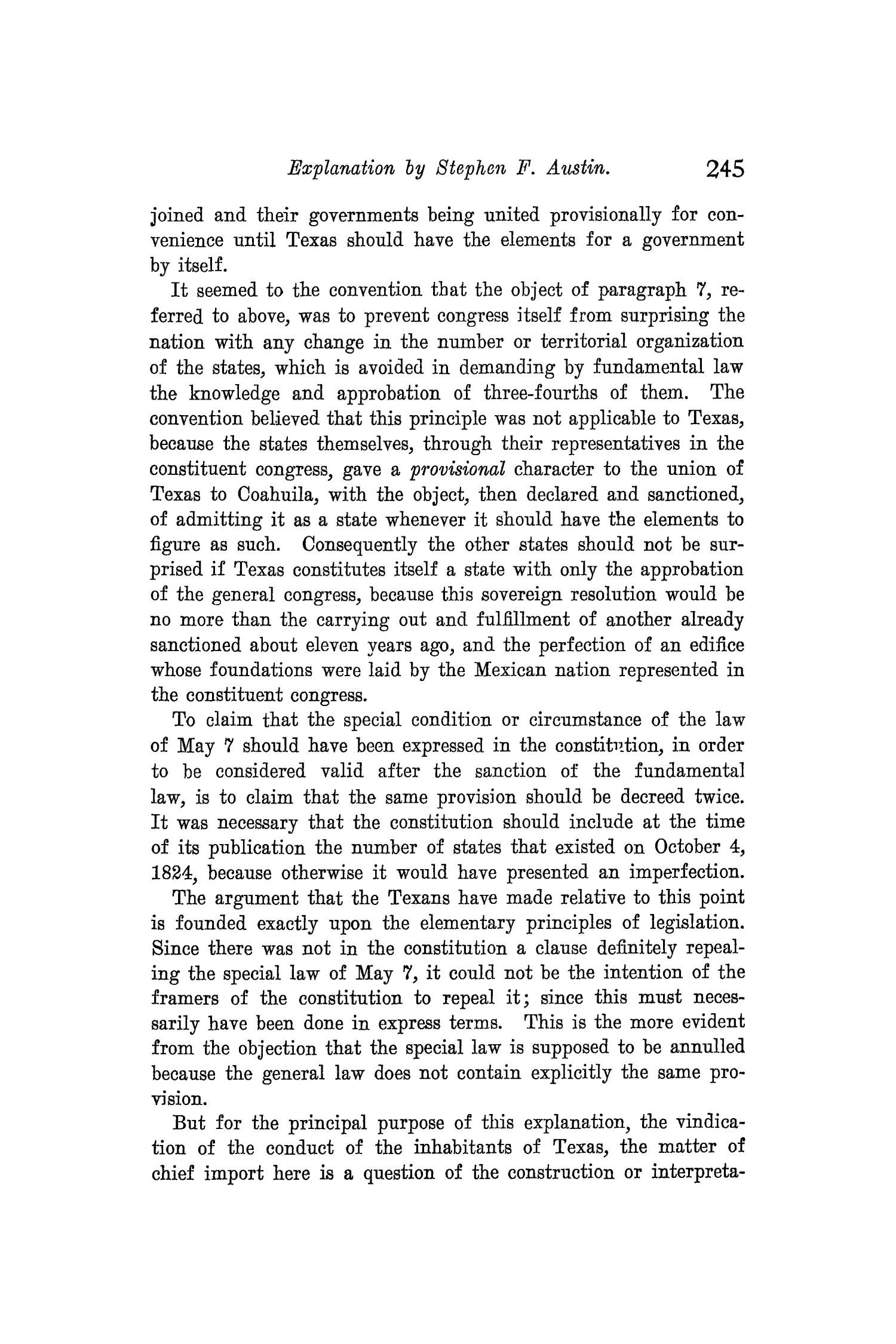 The Quarterly of the Texas State Historical Association, Volume 8, July 1904 - April, 1905                                                                                                      245
