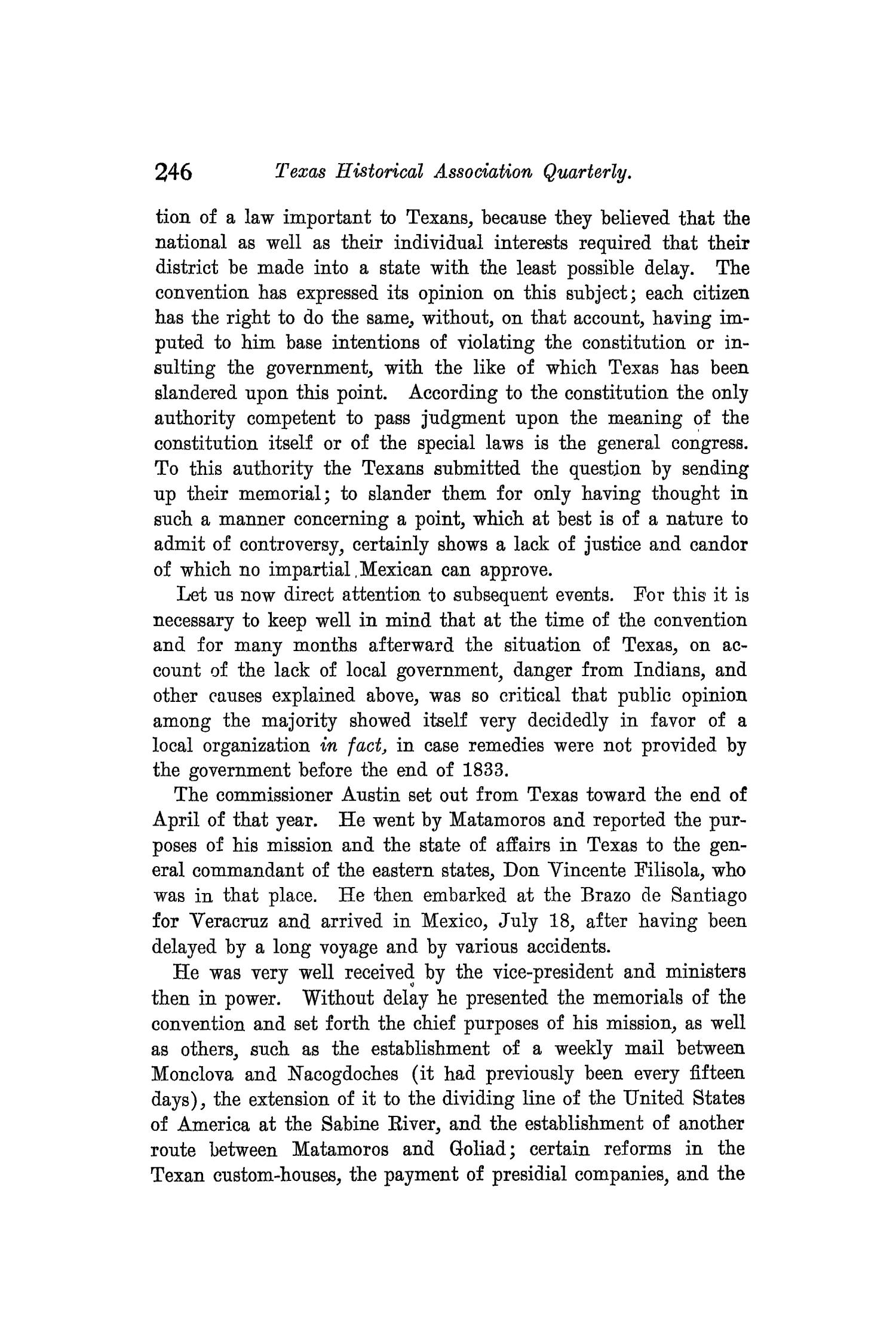 The Quarterly of the Texas State Historical Association, Volume 8, July 1904 - April, 1905                                                                                                      246