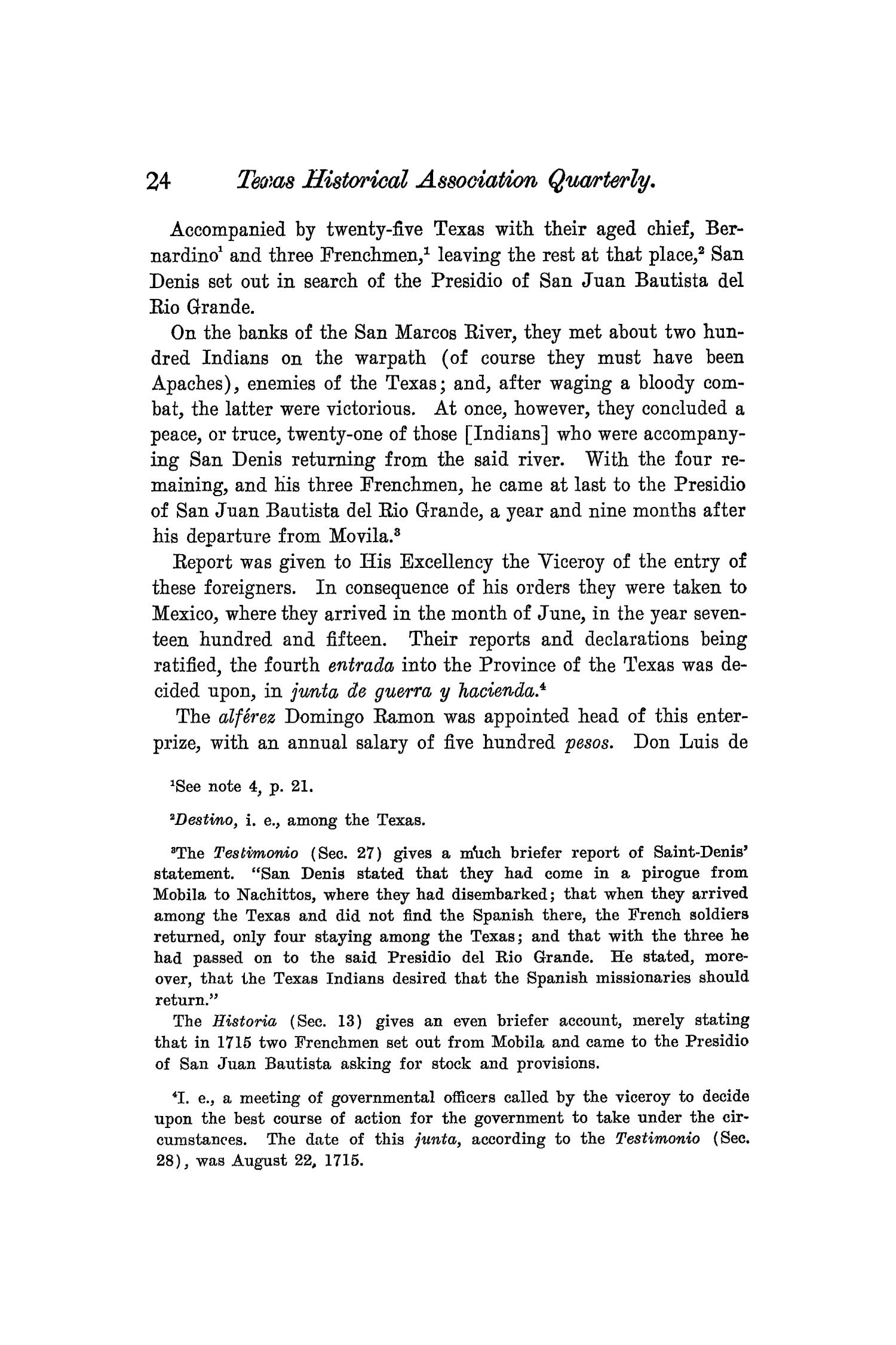 The Quarterly of the Texas State Historical Association, Volume 8, July 1904 - April, 1905                                                                                                      24