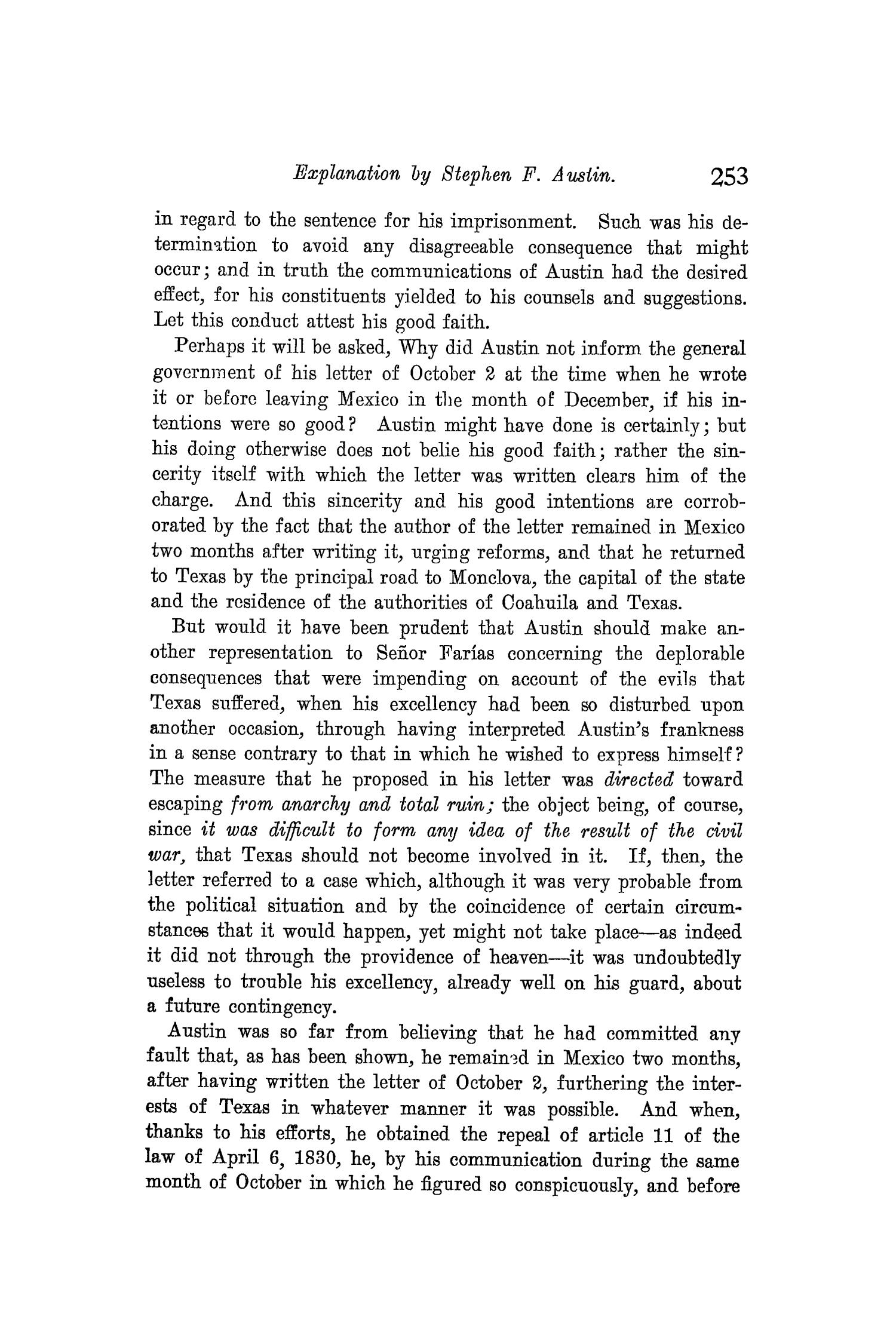 The Quarterly of the Texas State Historical Association, Volume 8, July 1904 - April, 1905                                                                                                      253