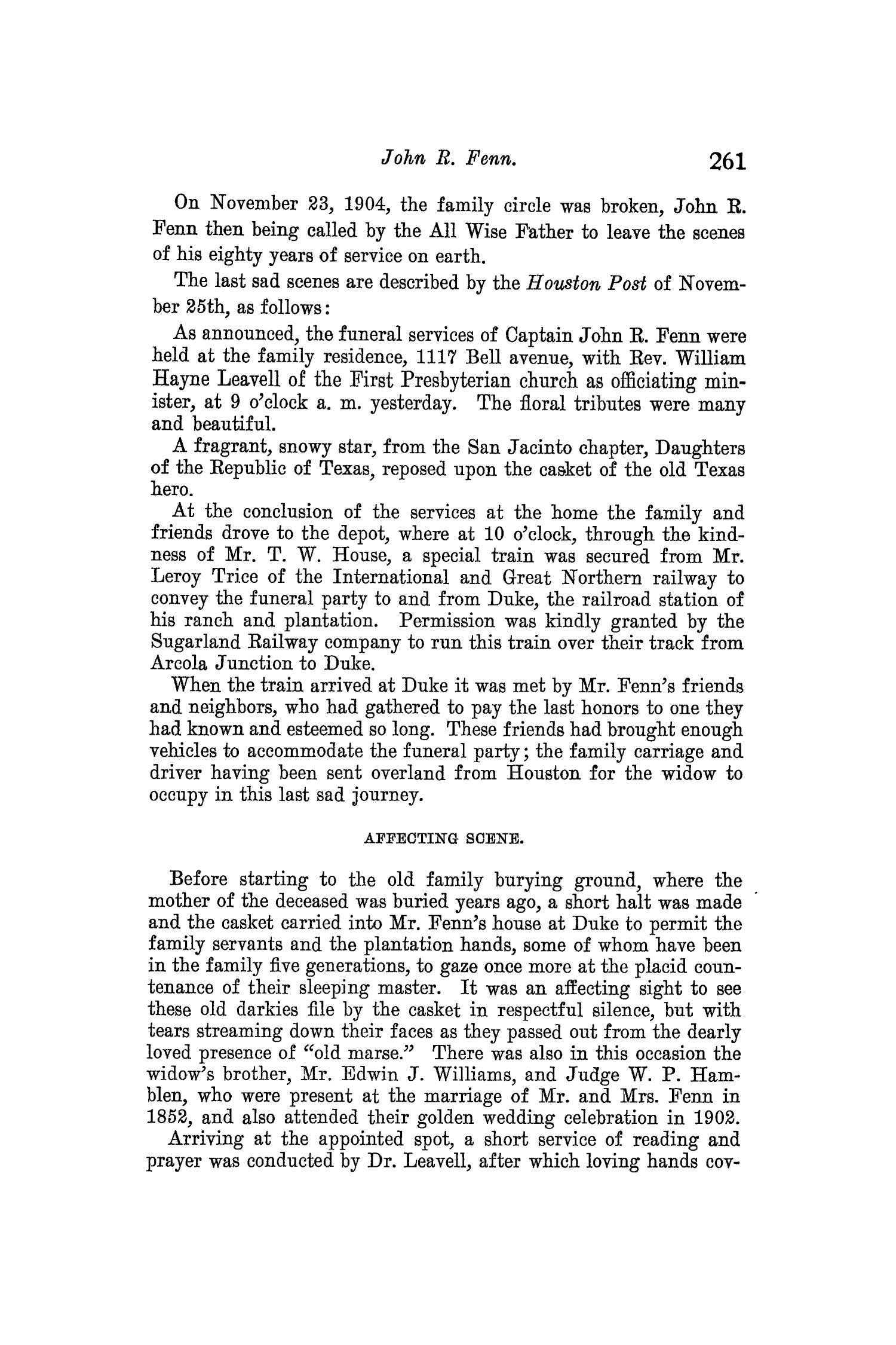 The Quarterly of the Texas State Historical Association, Volume 8, July 1904 - April, 1905                                                                                                      261