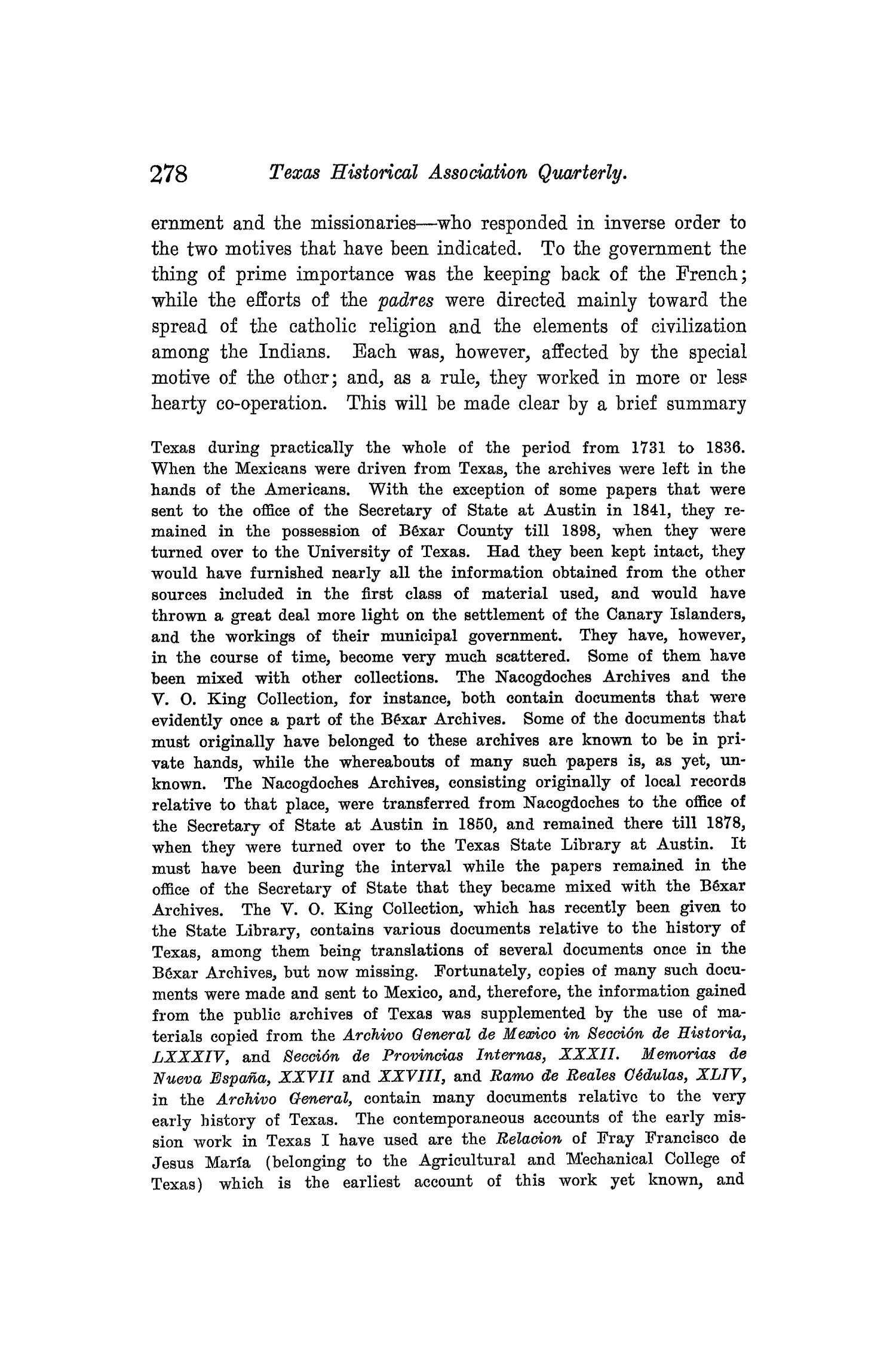 The Quarterly of the Texas State Historical Association, Volume 8, July 1904 - April, 1905                                                                                                      278