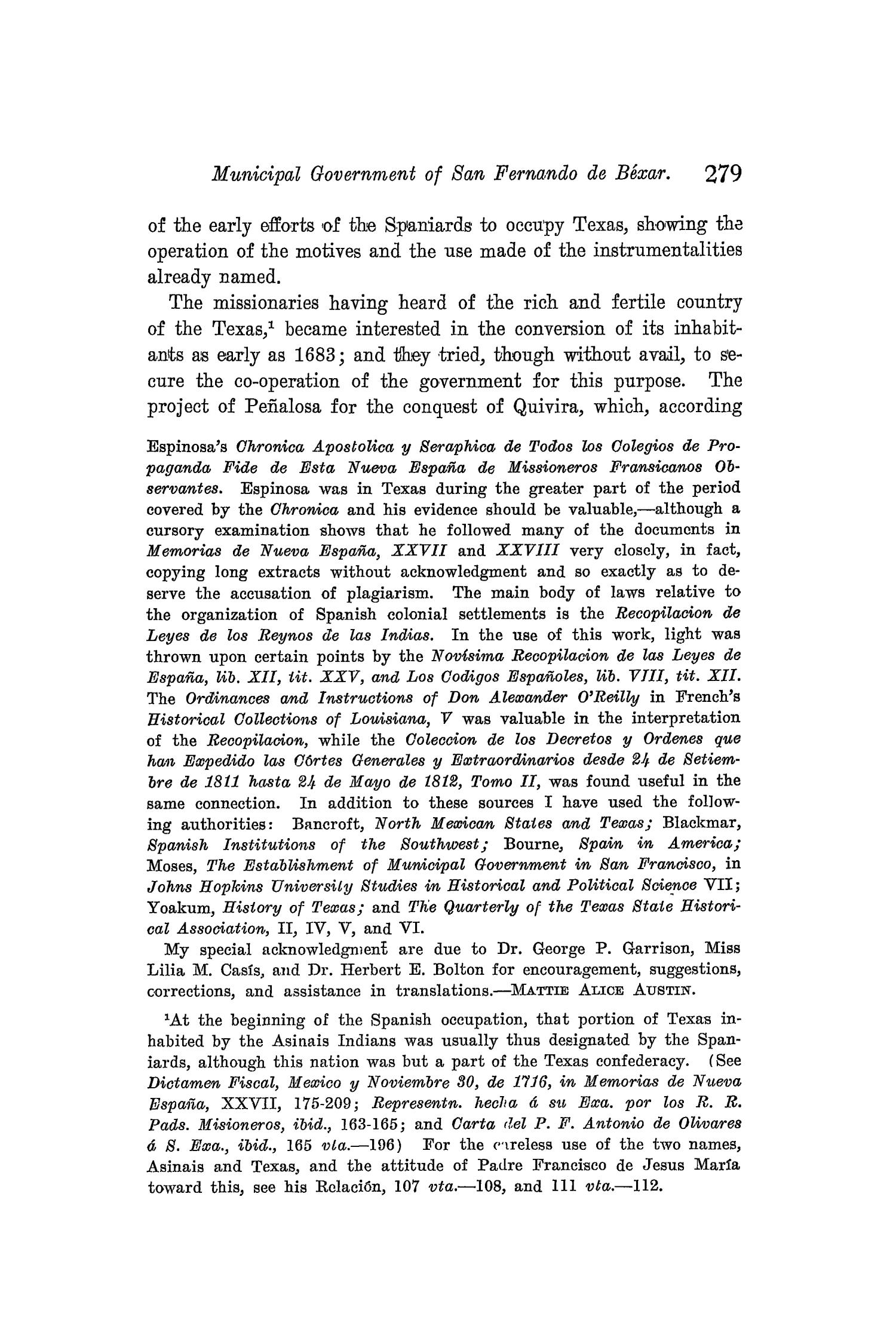 The Quarterly of the Texas State Historical Association, Volume 8, July 1904 - April, 1905                                                                                                      279