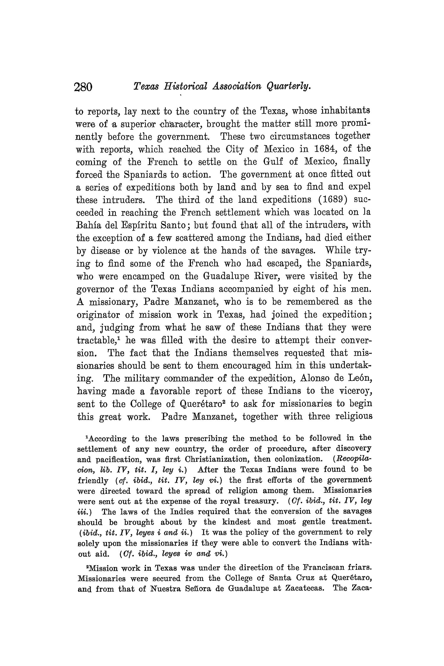 The Quarterly of the Texas State Historical Association, Volume 8, July 1904 - April, 1905                                                                                                      280