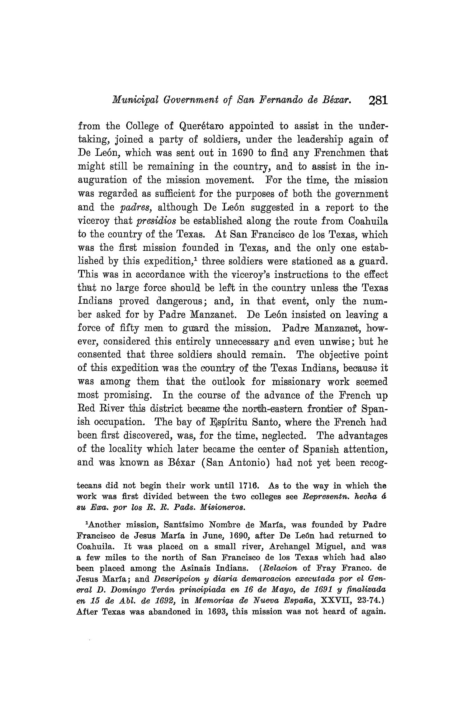 The Quarterly of the Texas State Historical Association, Volume 8, July 1904 - April, 1905                                                                                                      281