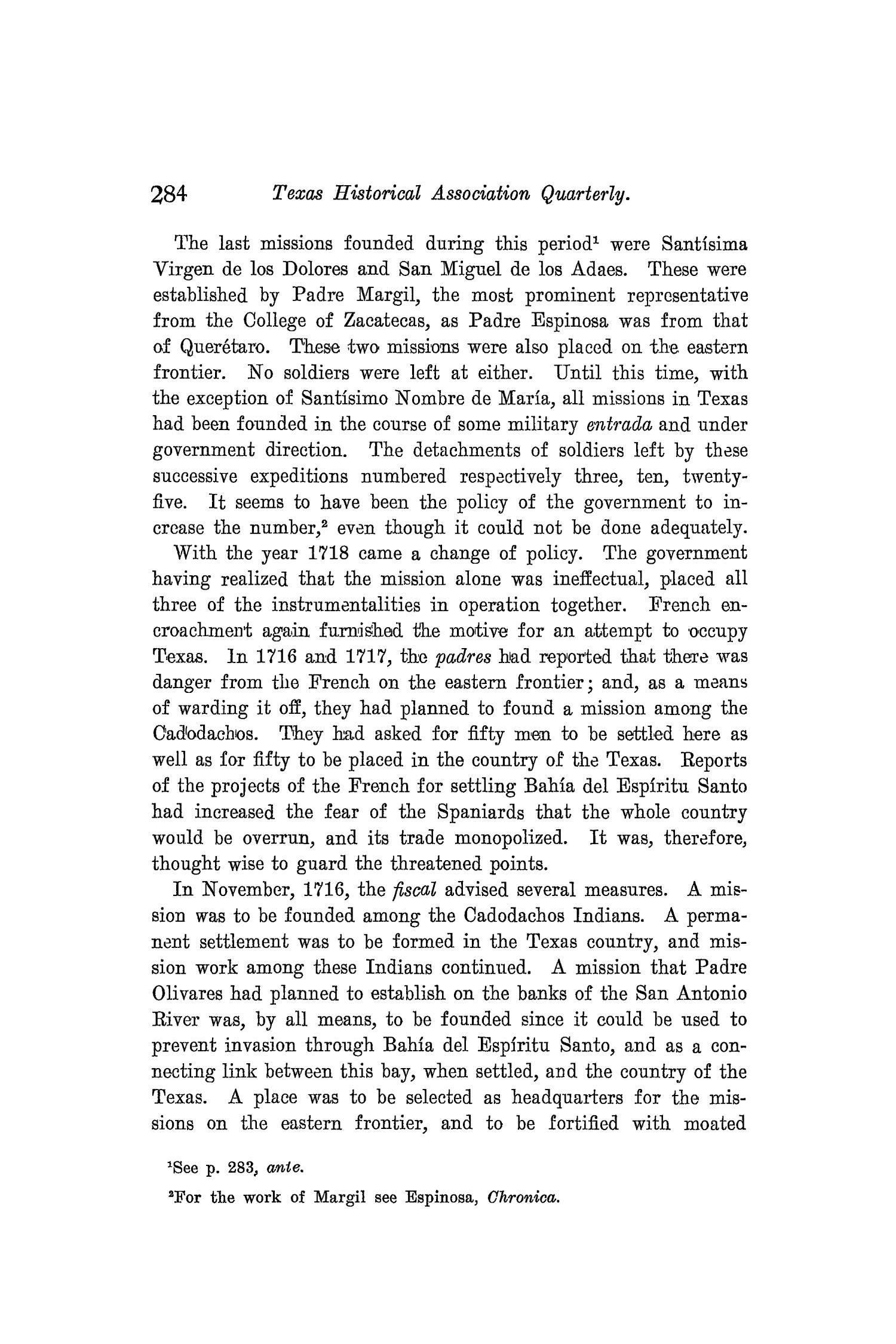 The Quarterly of the Texas State Historical Association, Volume 8, July 1904 - April, 1905                                                                                                      284