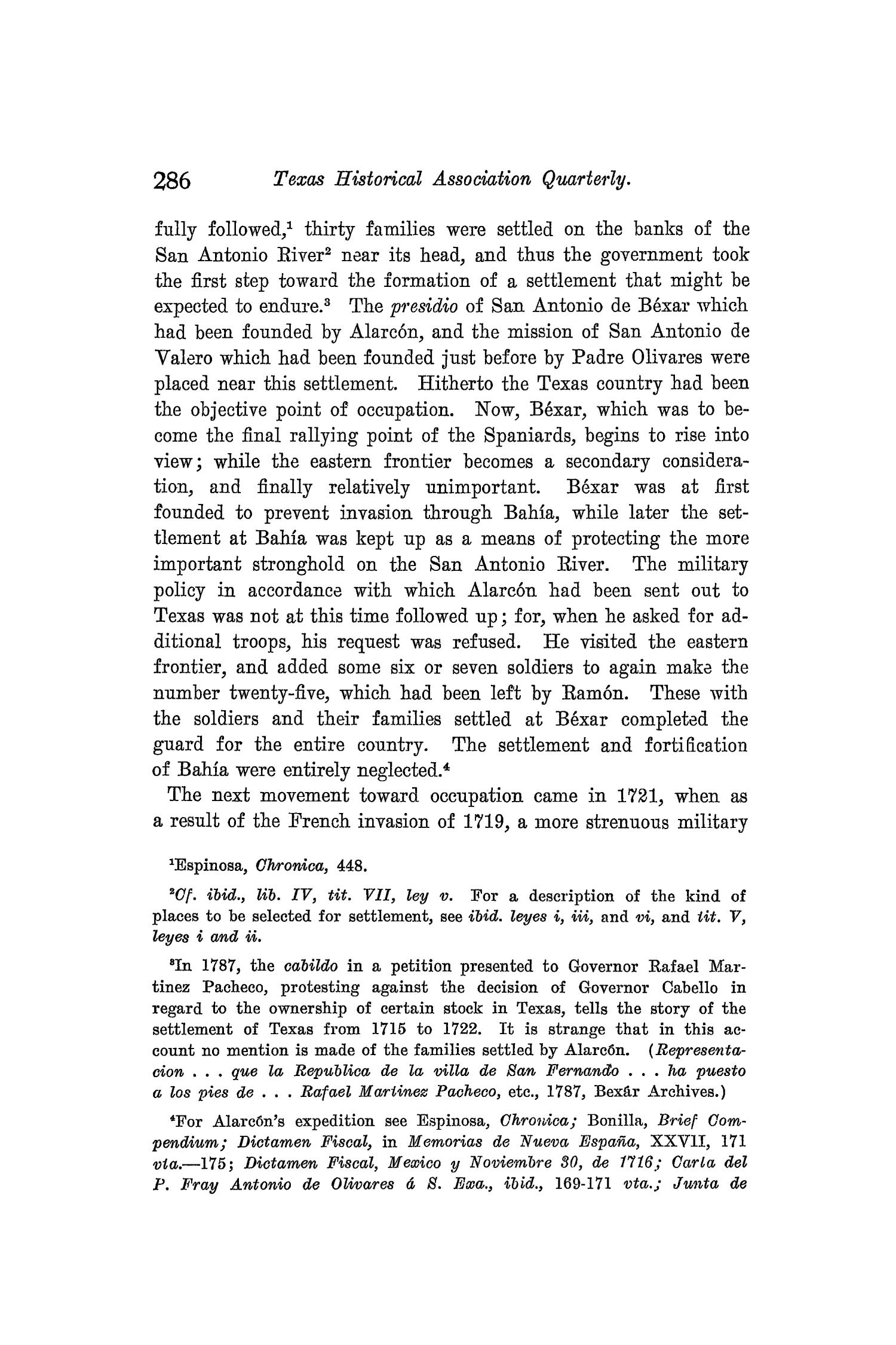 The Quarterly of the Texas State Historical Association, Volume 8, July 1904 - April, 1905                                                                                                      286