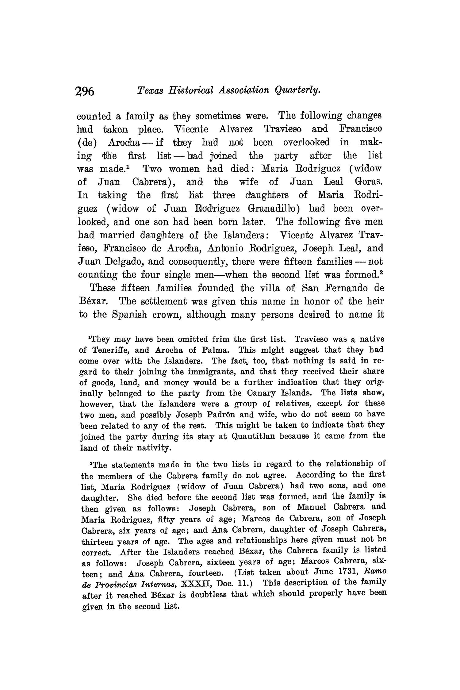 The Quarterly of the Texas State Historical Association, Volume 8, July 1904 - April, 1905                                                                                                      296