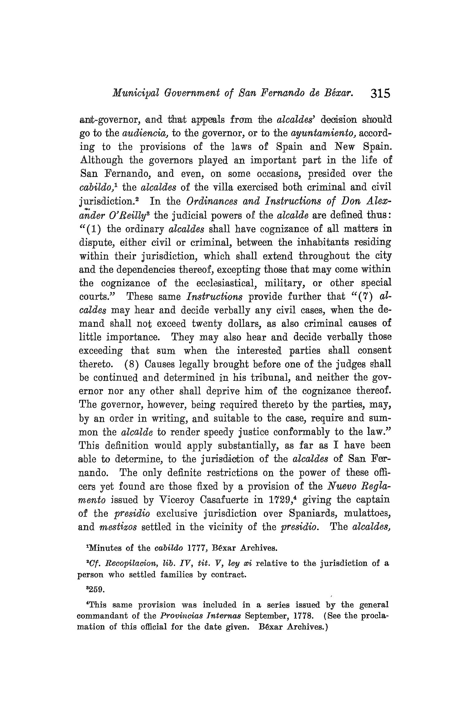 The Quarterly of the Texas State Historical Association, Volume 8, July 1904 - April, 1905                                                                                                      315