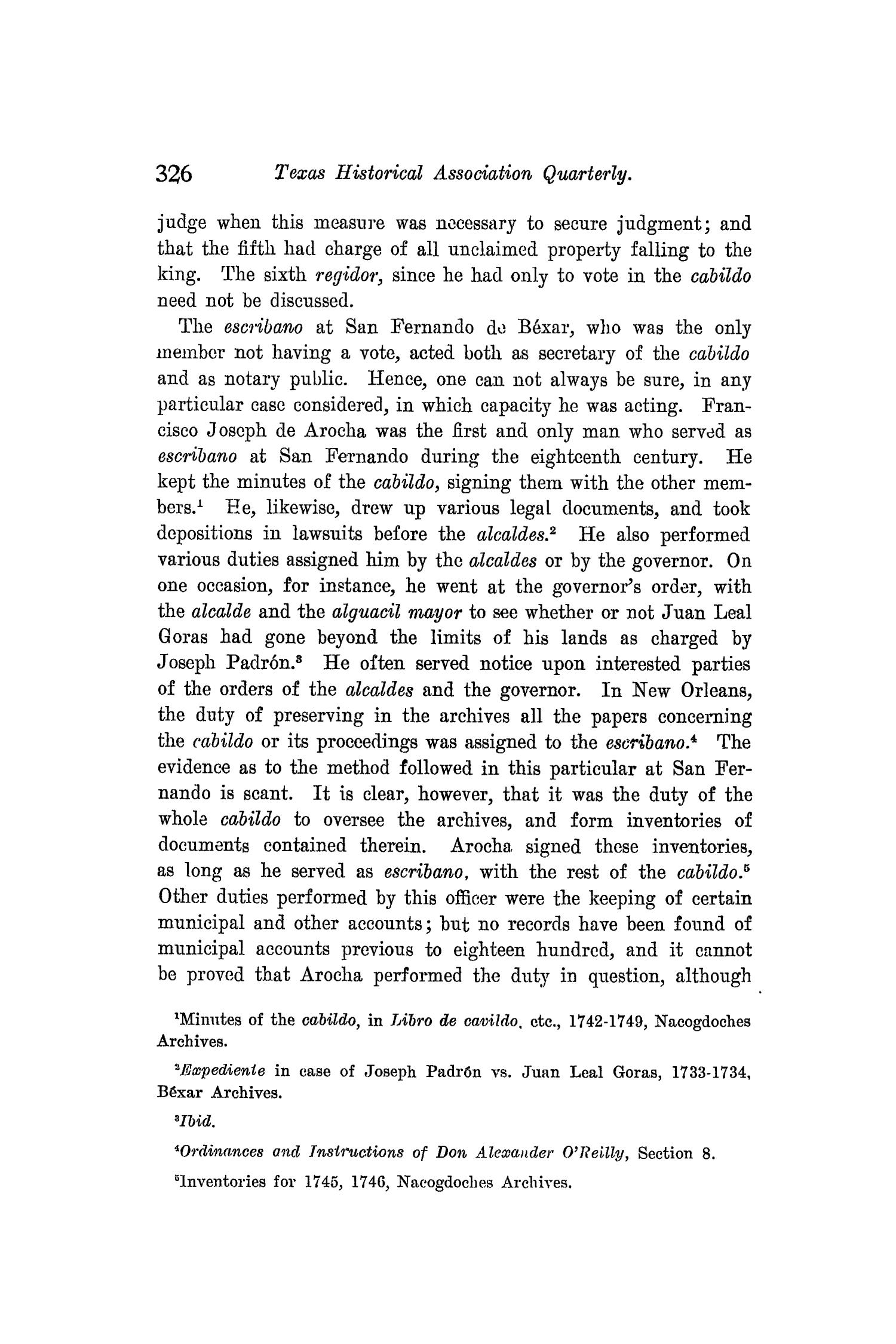 The Quarterly of the Texas State Historical Association, Volume 8, July 1904 - April, 1905                                                                                                      326