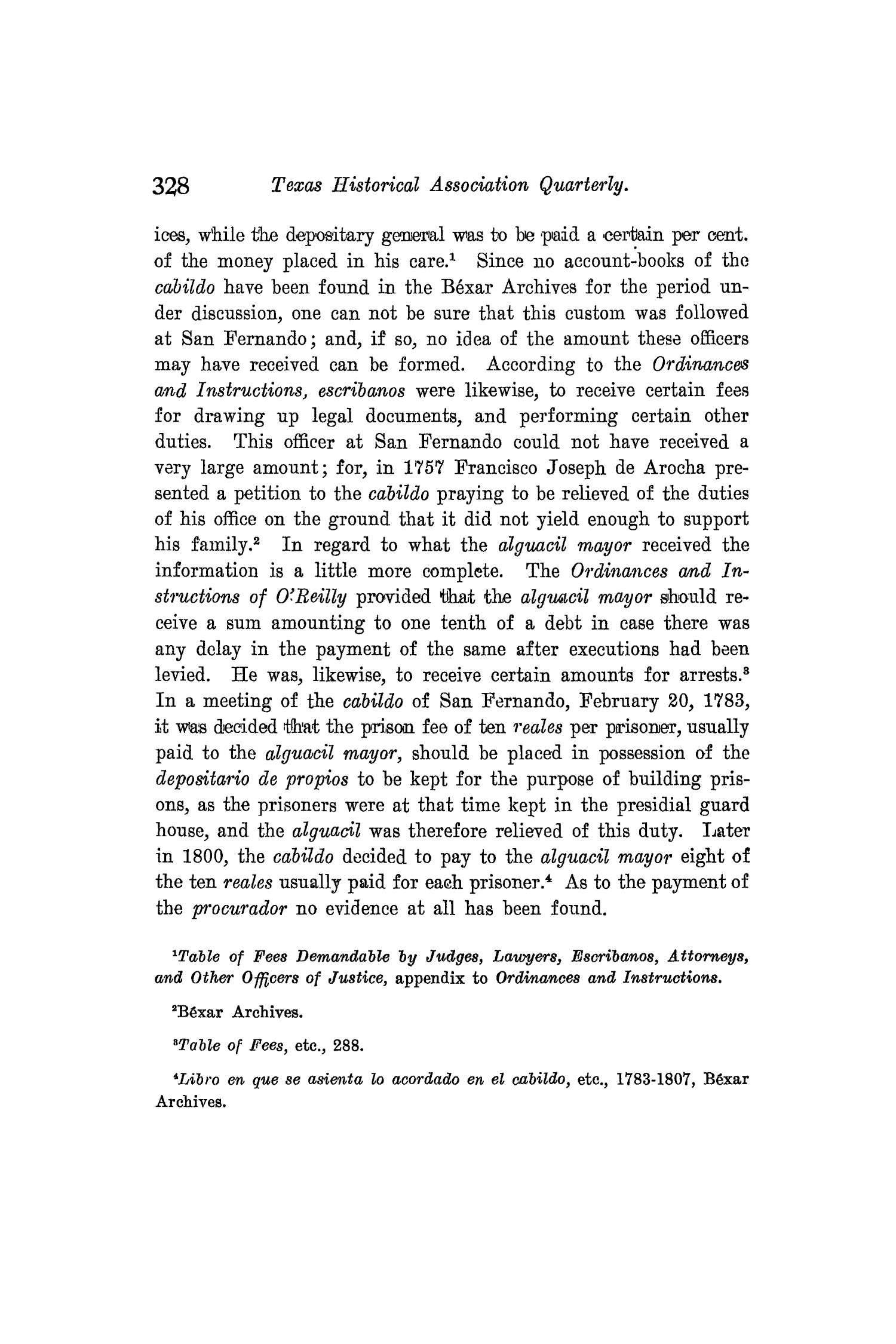 The Quarterly of the Texas State Historical Association, Volume 8, July 1904 - April, 1905                                                                                                      328