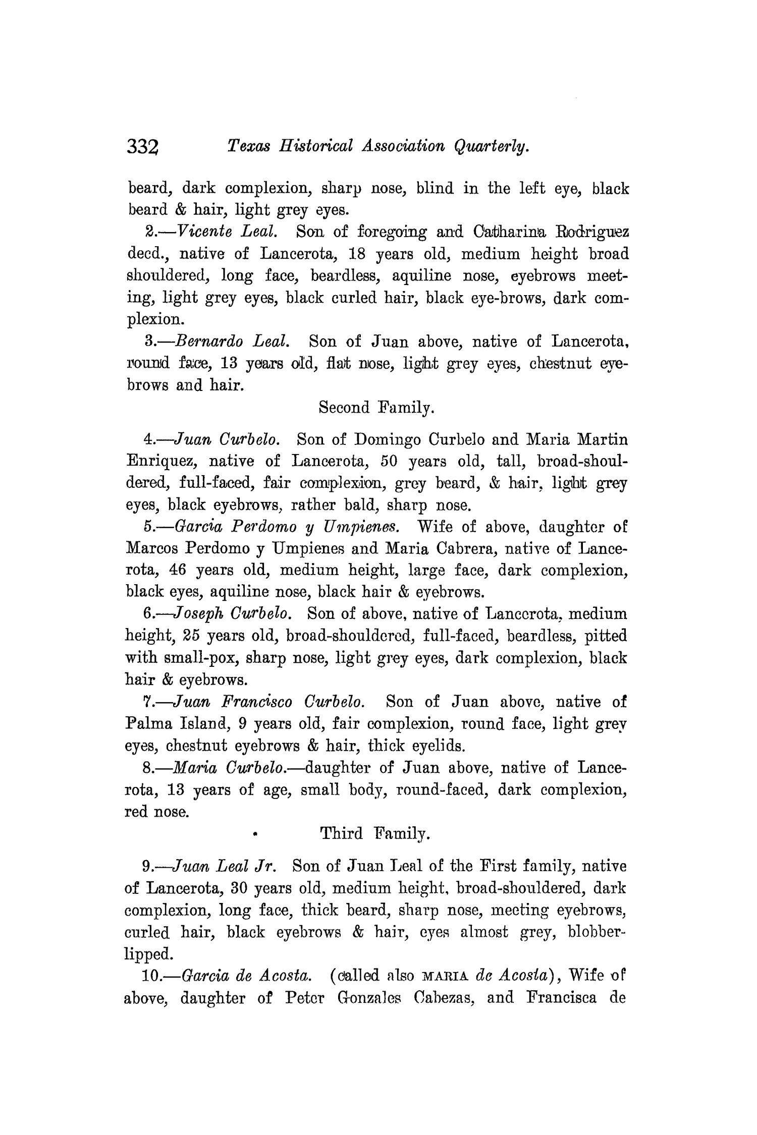 The Quarterly of the Texas State Historical Association, Volume 8, July 1904 - April, 1905                                                                                                      332