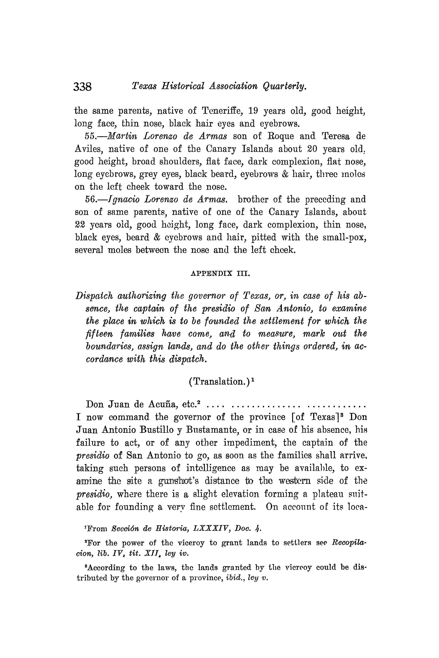 The Quarterly of the Texas State Historical Association, Volume 8, July 1904 - April, 1905                                                                                                      338