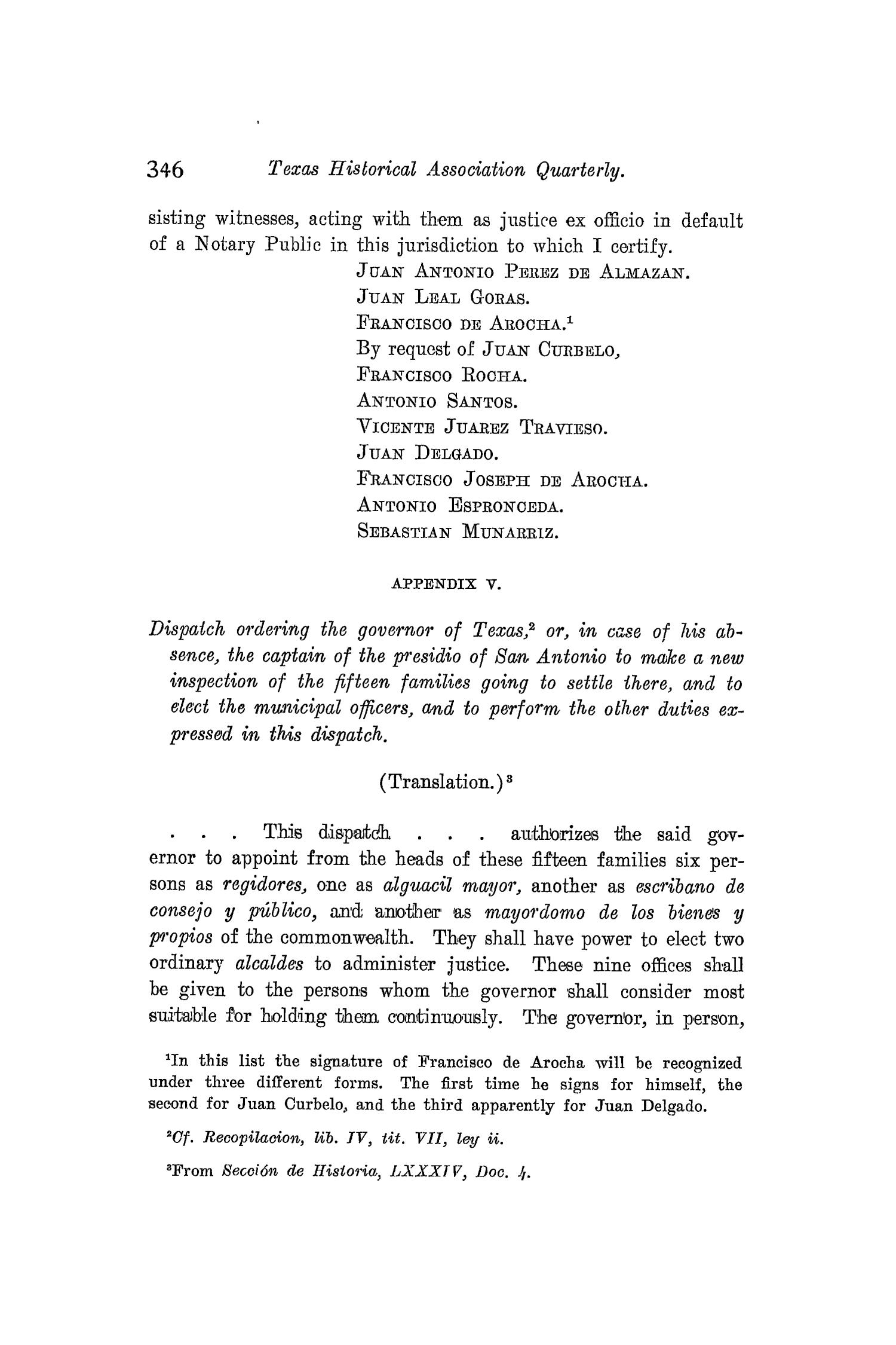 The Quarterly of the Texas State Historical Association, Volume 8, July 1904 - April, 1905                                                                                                      346