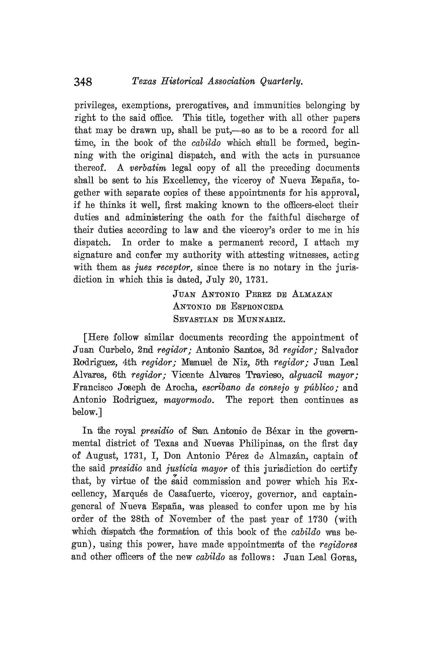 The Quarterly of the Texas State Historical Association, Volume 8, July 1904 - April, 1905                                                                                                      348