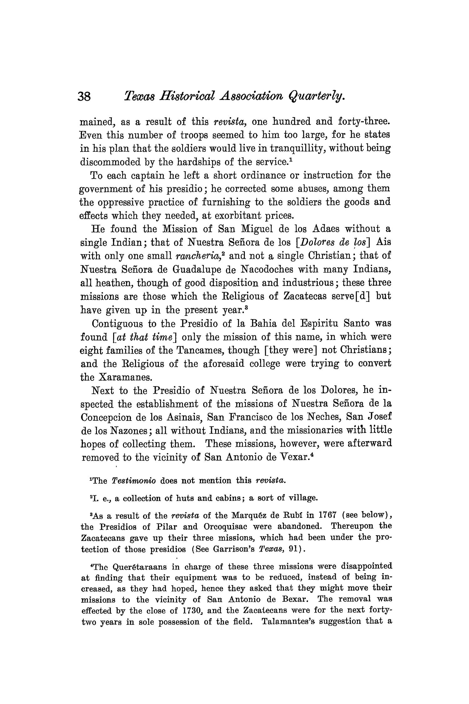 The Quarterly of the Texas State Historical Association, Volume 8, July 1904 - April, 1905                                                                                                      38
