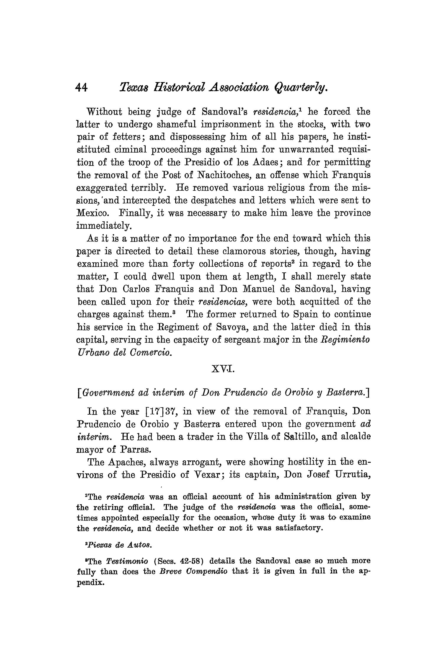 The Quarterly of the Texas State Historical Association, Volume 8, July 1904 - April, 1905                                                                                                      44