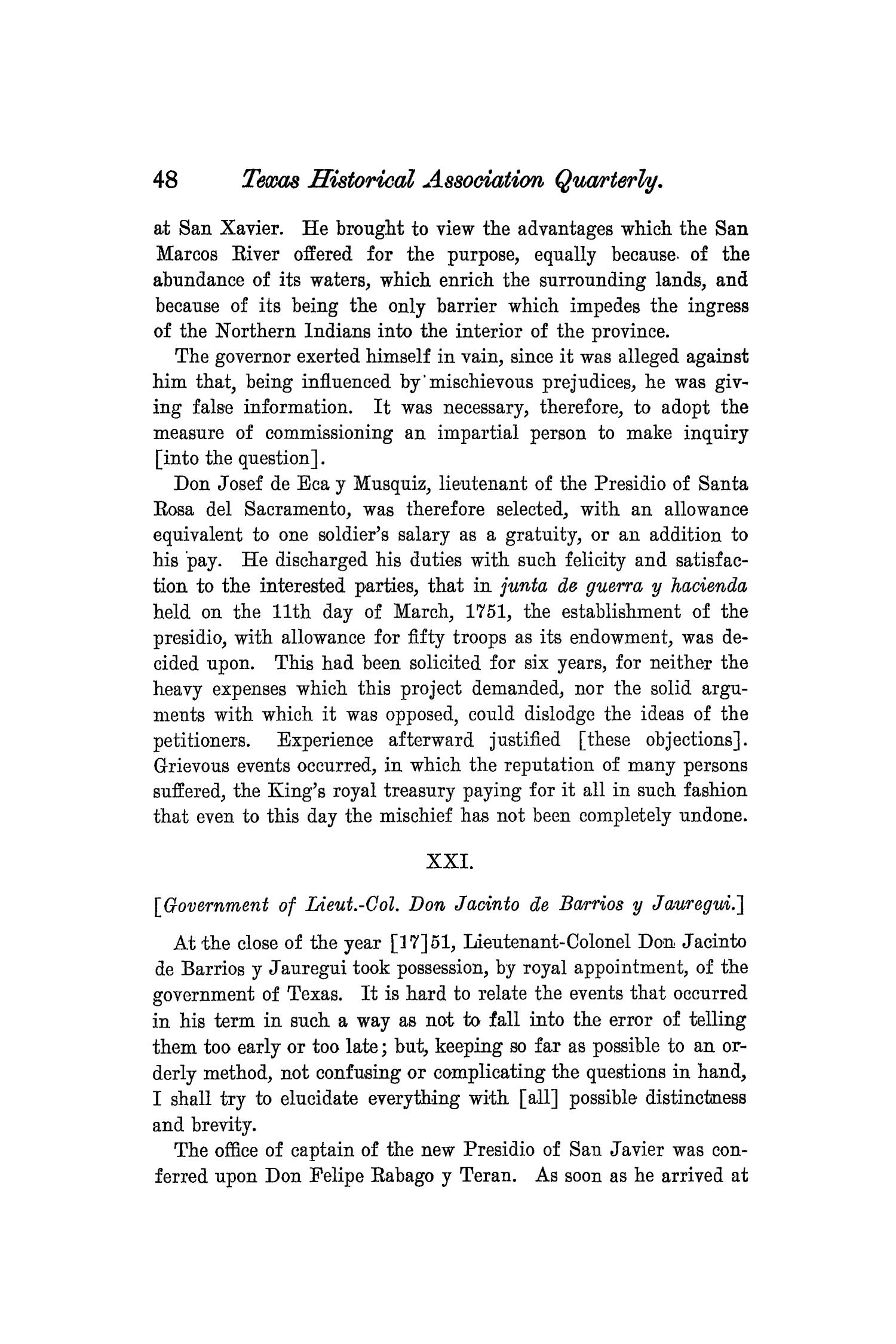 The Quarterly of the Texas State Historical Association, Volume 8, July 1904 - April, 1905                                                                                                      48