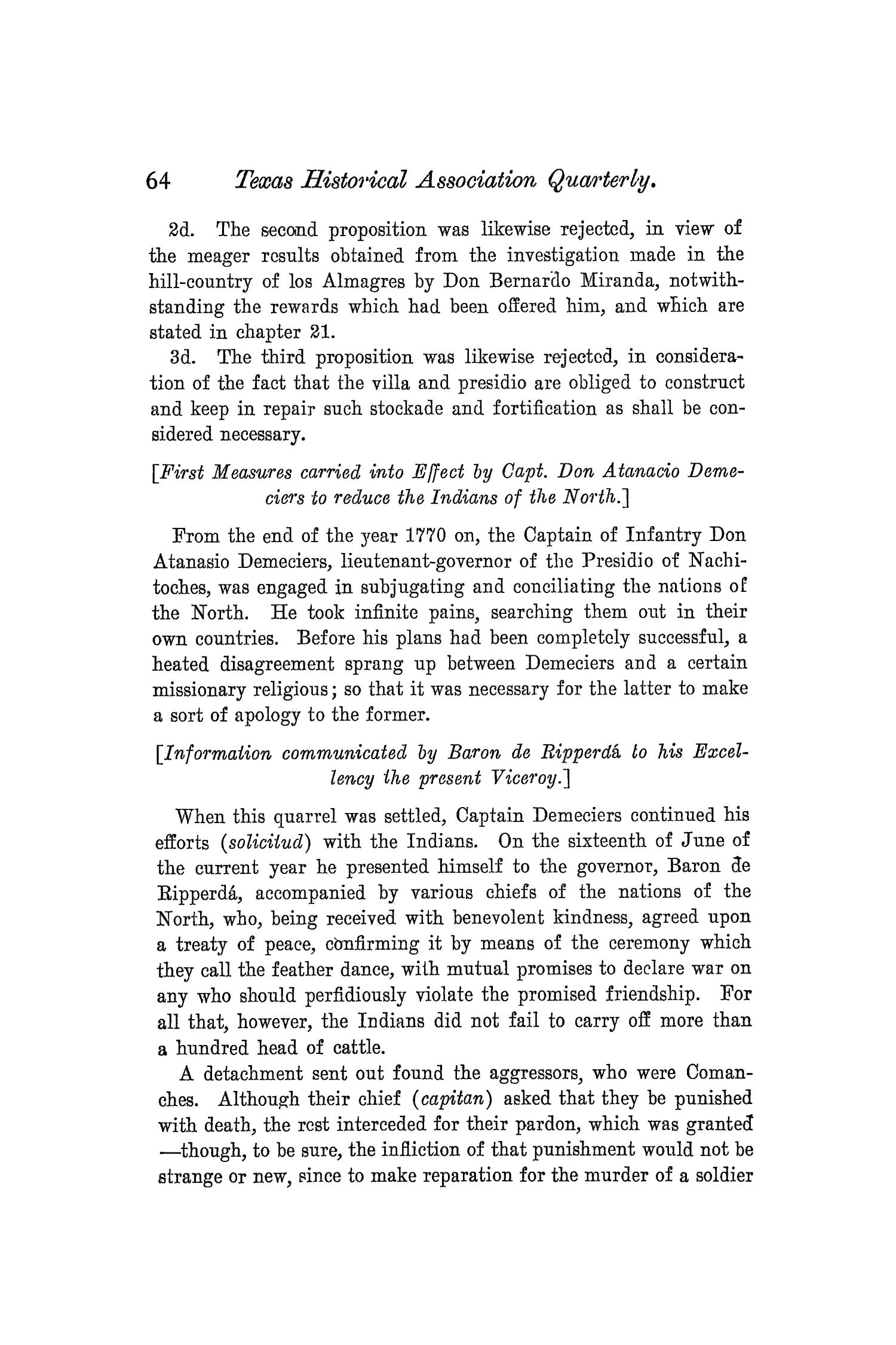 The Quarterly of the Texas State Historical Association, Volume 8, July 1904 - April, 1905                                                                                                      64