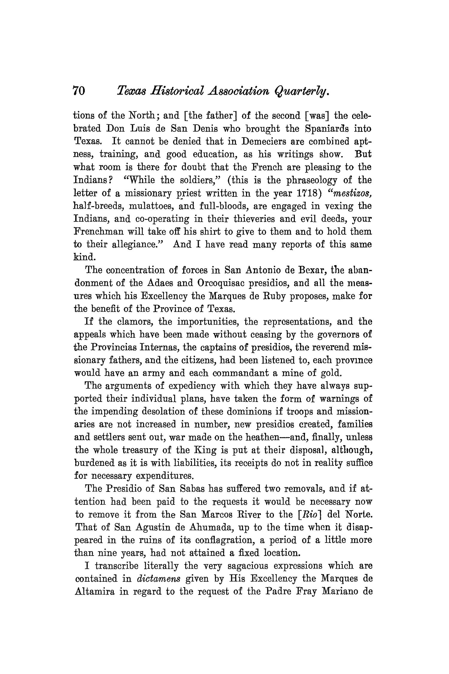 The Quarterly of the Texas State Historical Association, Volume 8, July 1904 - April, 1905                                                                                                      70